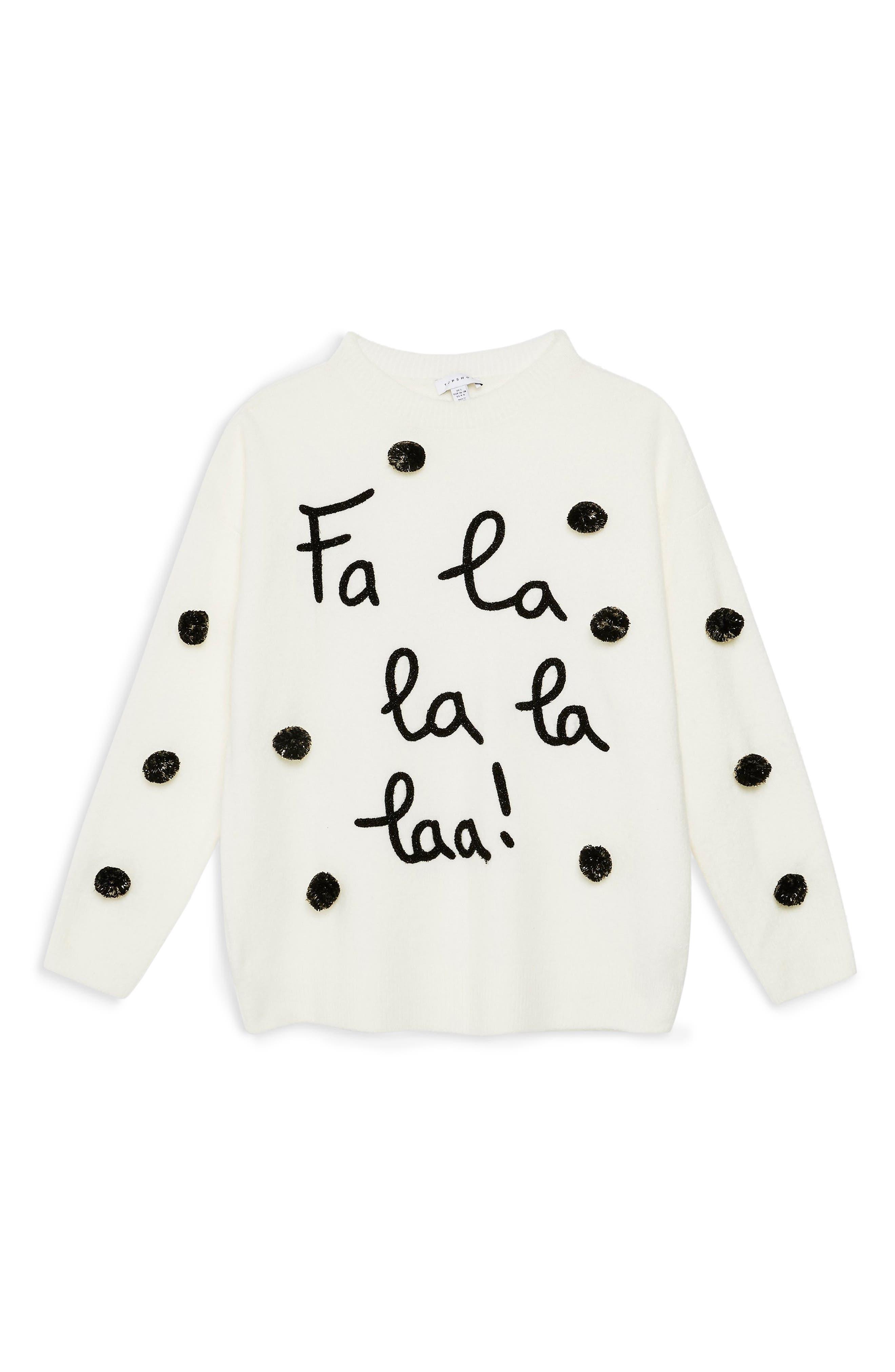 Fa La La La Sweater,                             Alternate thumbnail 3, color,                             900