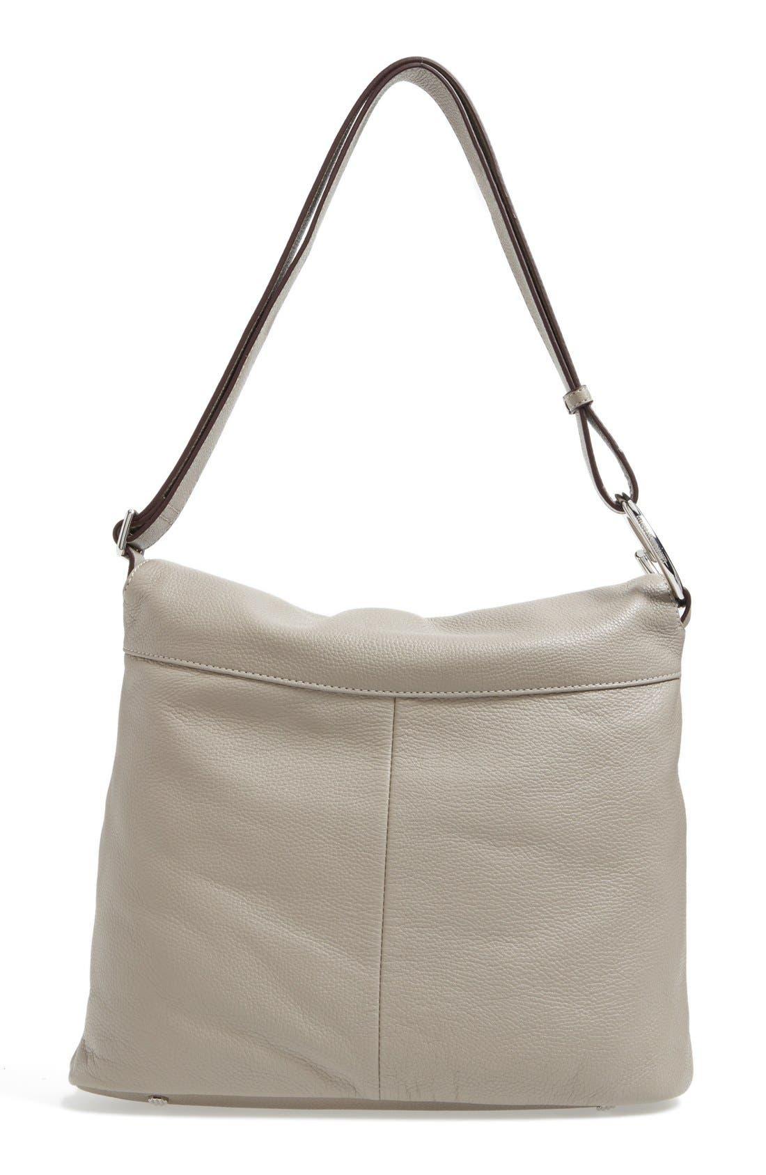 Finley Leather Hobo Bag,                             Alternate thumbnail 4, color,