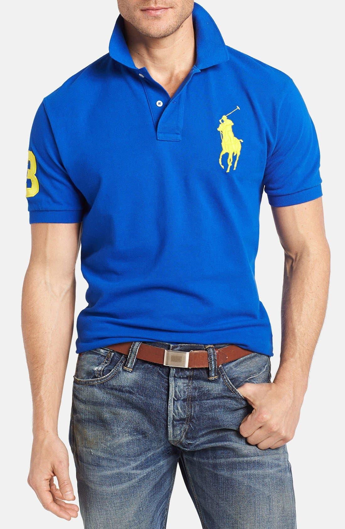 POLO RALPH LAUREN 'Big Pony' Polo Shirt, Main, color, 400