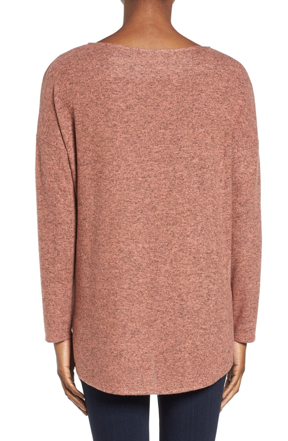 Cozy Ballet Neck High/Low Pullover,                             Alternate thumbnail 72, color,