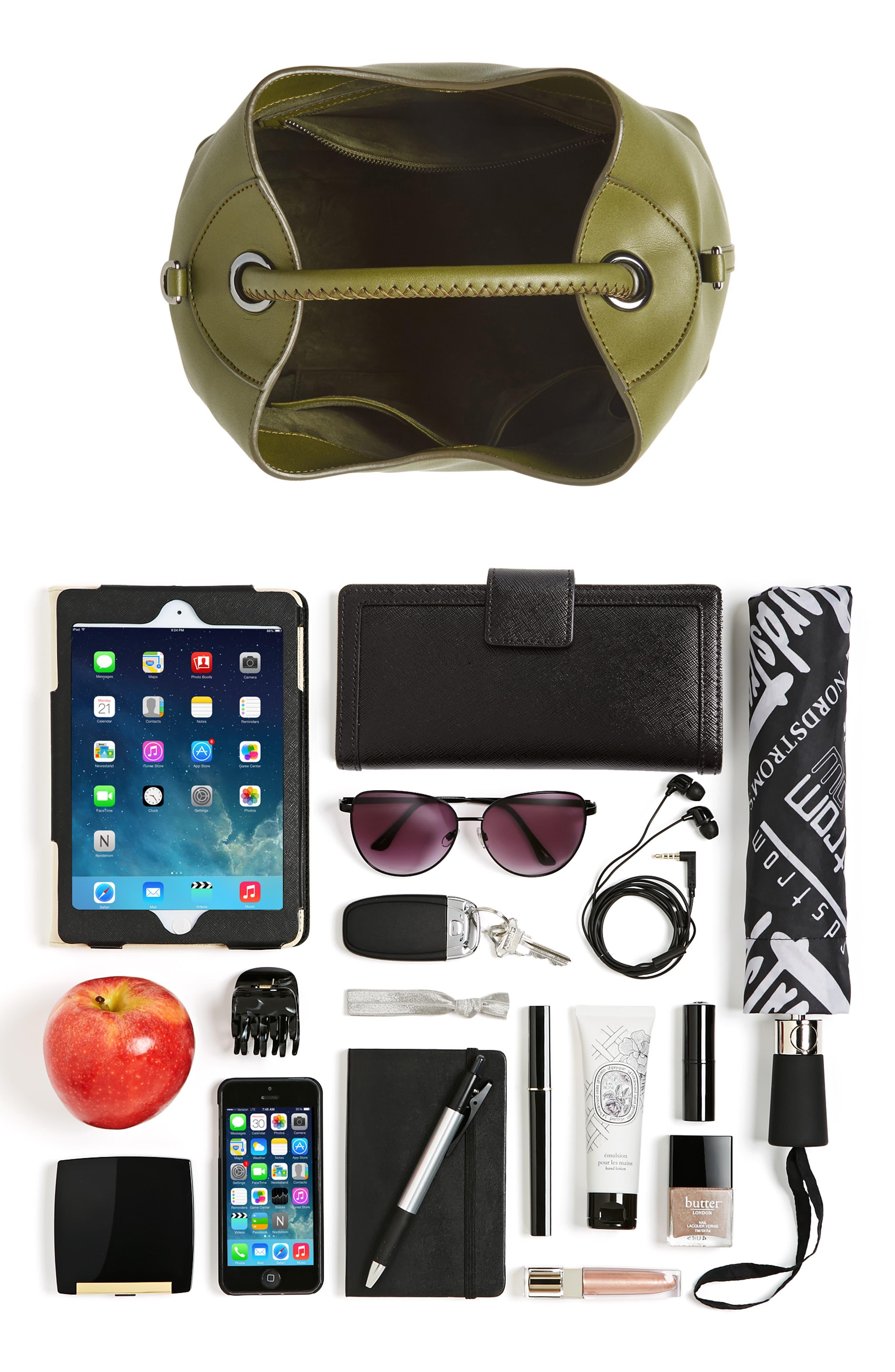 Raisin Leather Handbag,                             Alternate thumbnail 52, color,