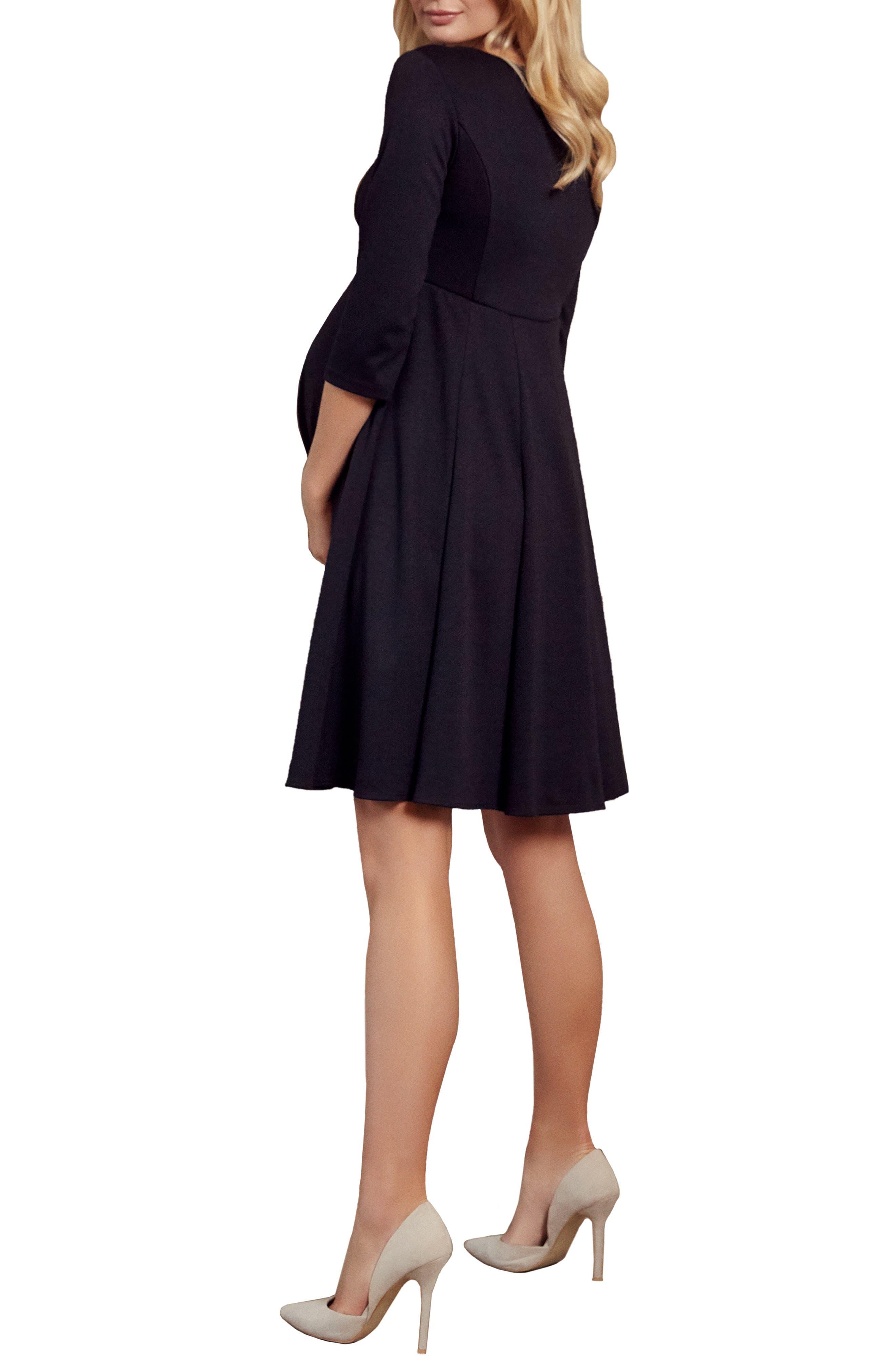 Sienna Maternity Dress,                             Alternate thumbnail 2, color,                             BLACK