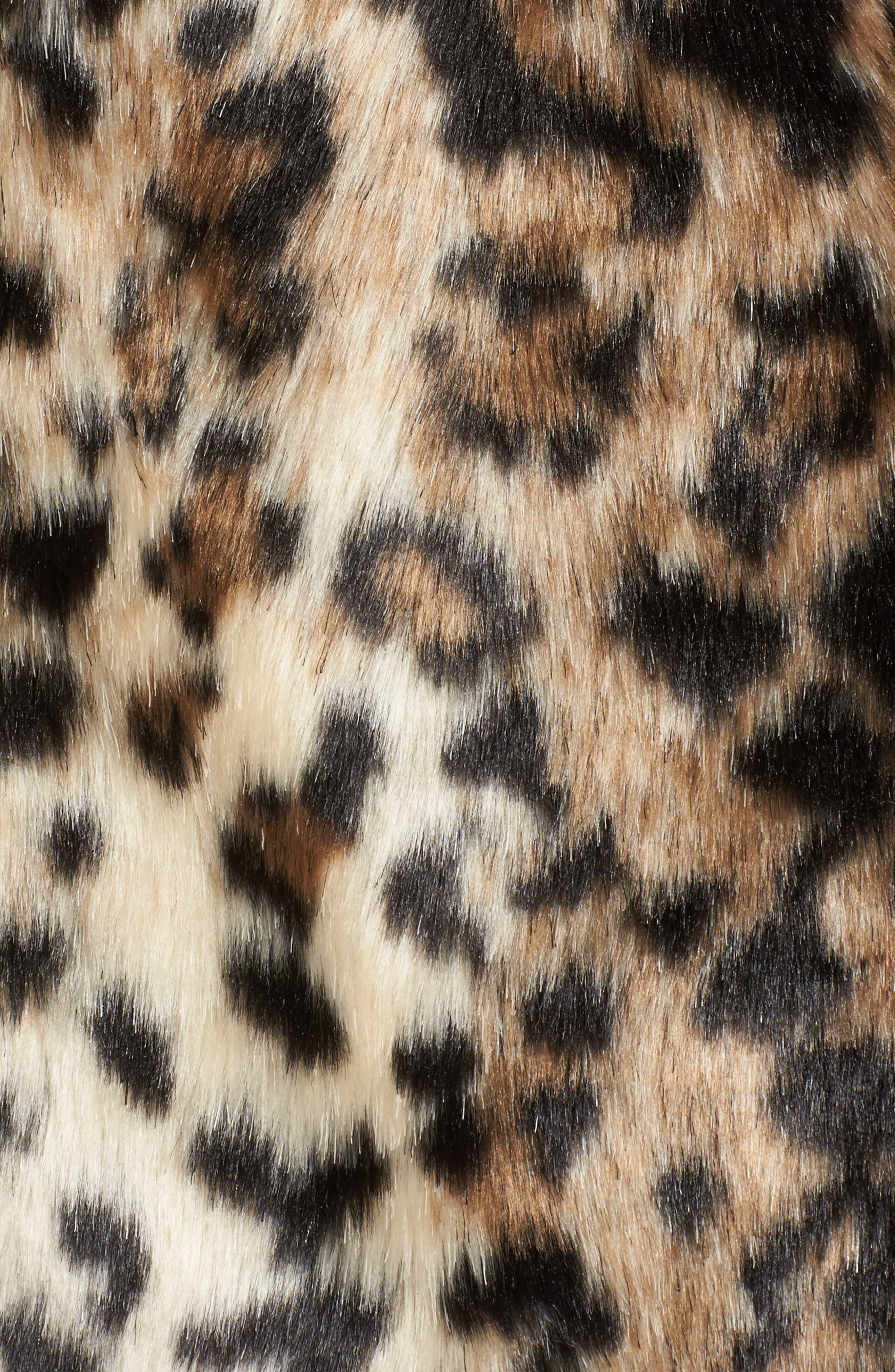 McKinley Leopard Print Faux Fur Jacket,                             Alternate thumbnail 6, color,                             238