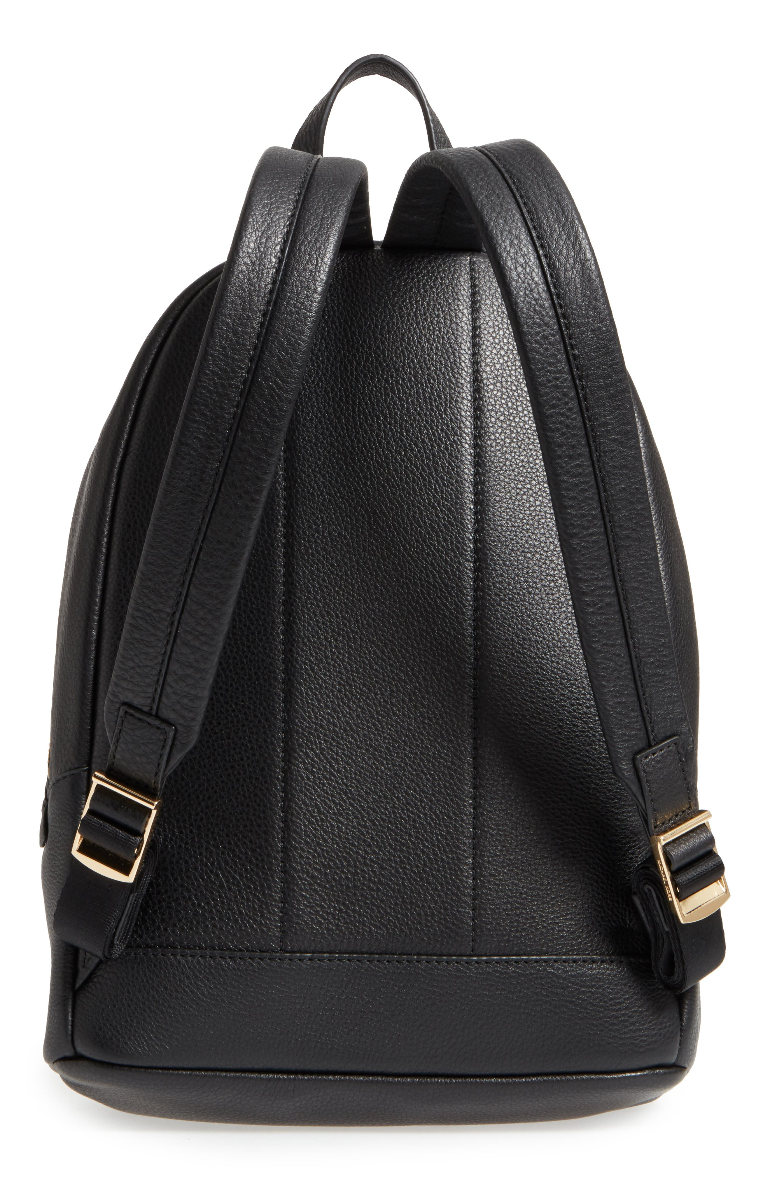 Large Wythe Leather Backpack,                             Alternate thumbnail 3, color,                             001