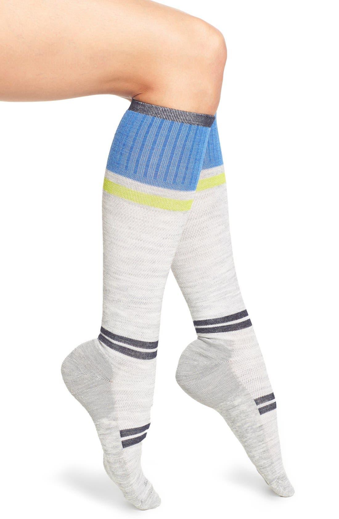 'Sport Flirt' Compression Knee Socks,                             Main thumbnail 3, color,