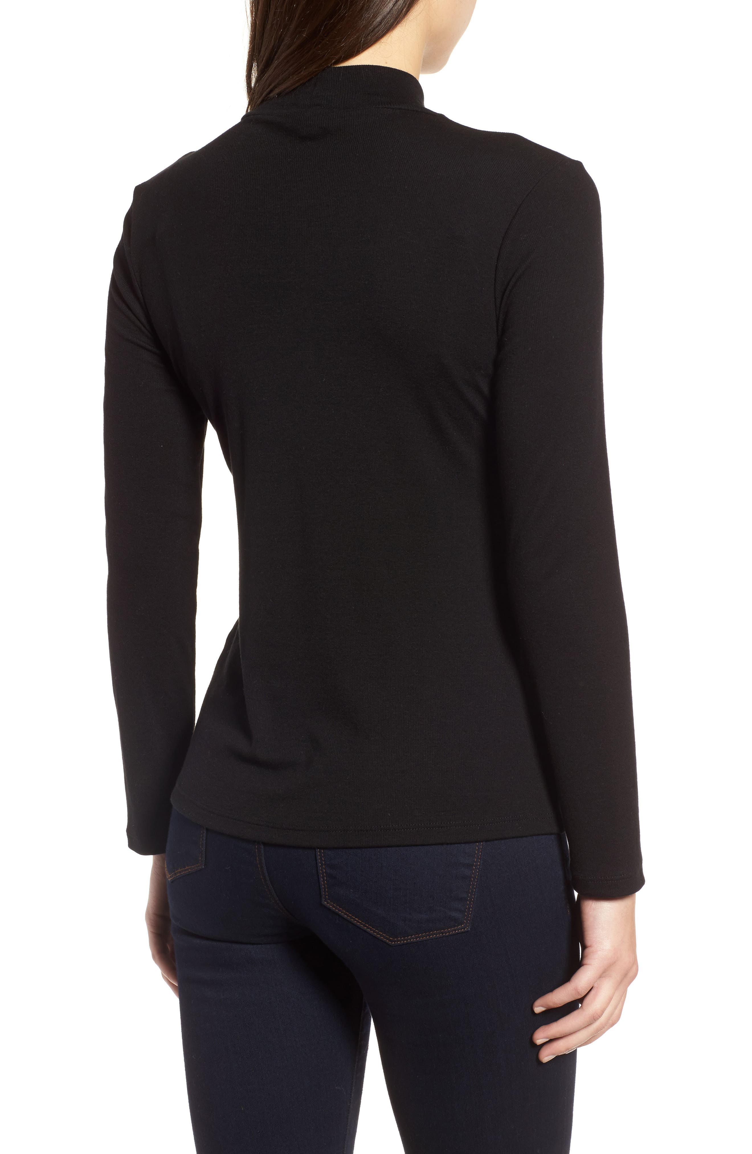 Stretch Tencel<sup>®</sup> Top,                             Alternate thumbnail 2, color,                             001
