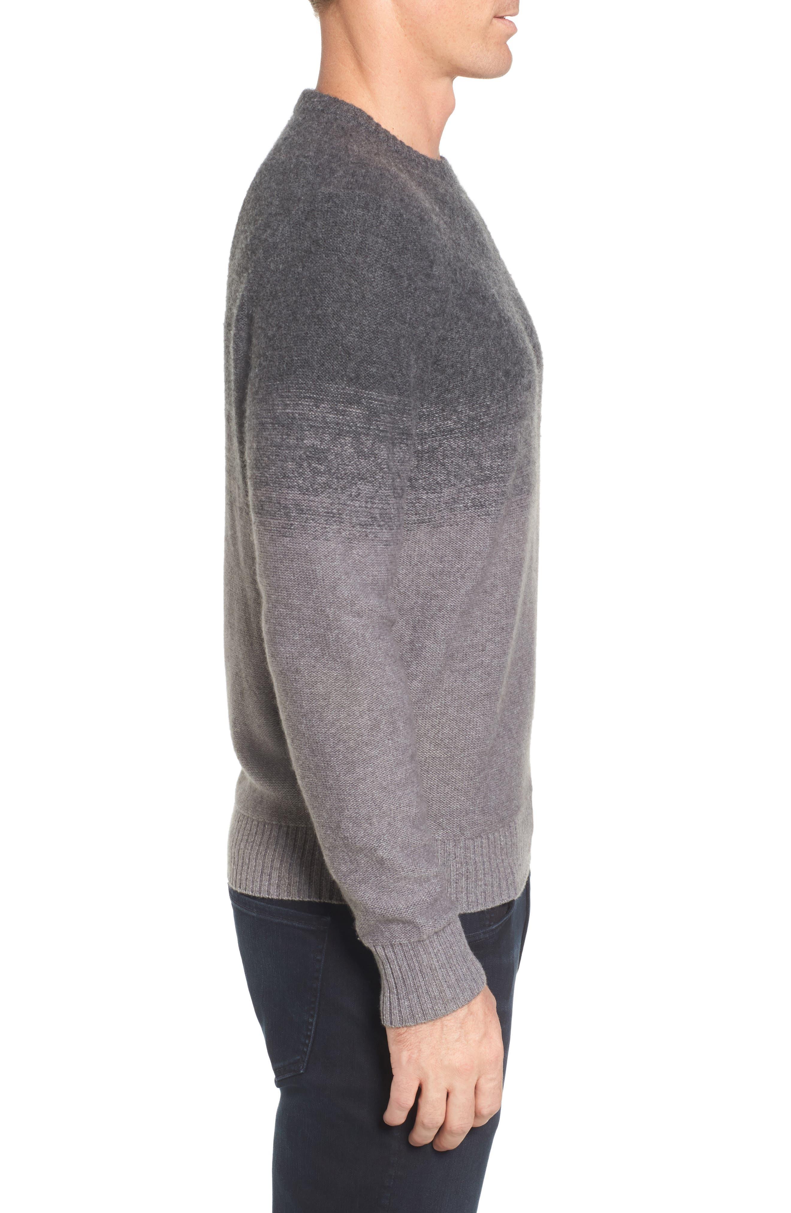 Monte Rosse Ombré Cashmere Sweater,                             Alternate thumbnail 3, color,                             030