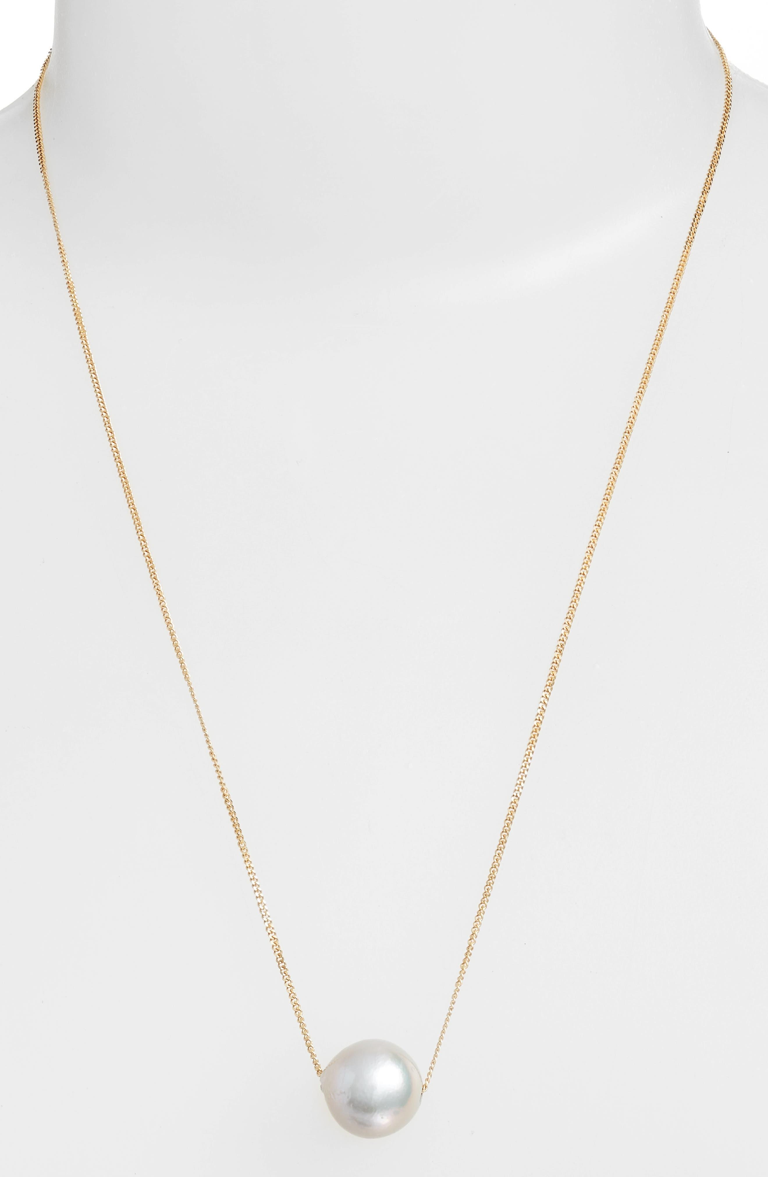 Pearl Pendant Necklace,                         Main,                         color, 051