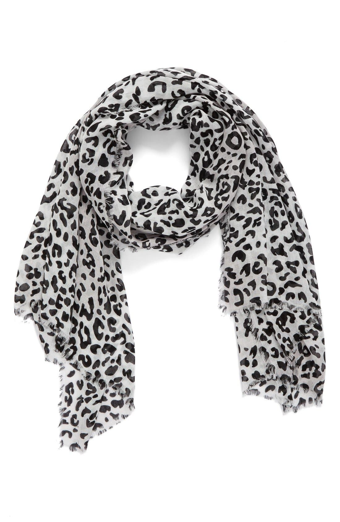 Leopard Print Wrap,                             Main thumbnail 1, color,                             001