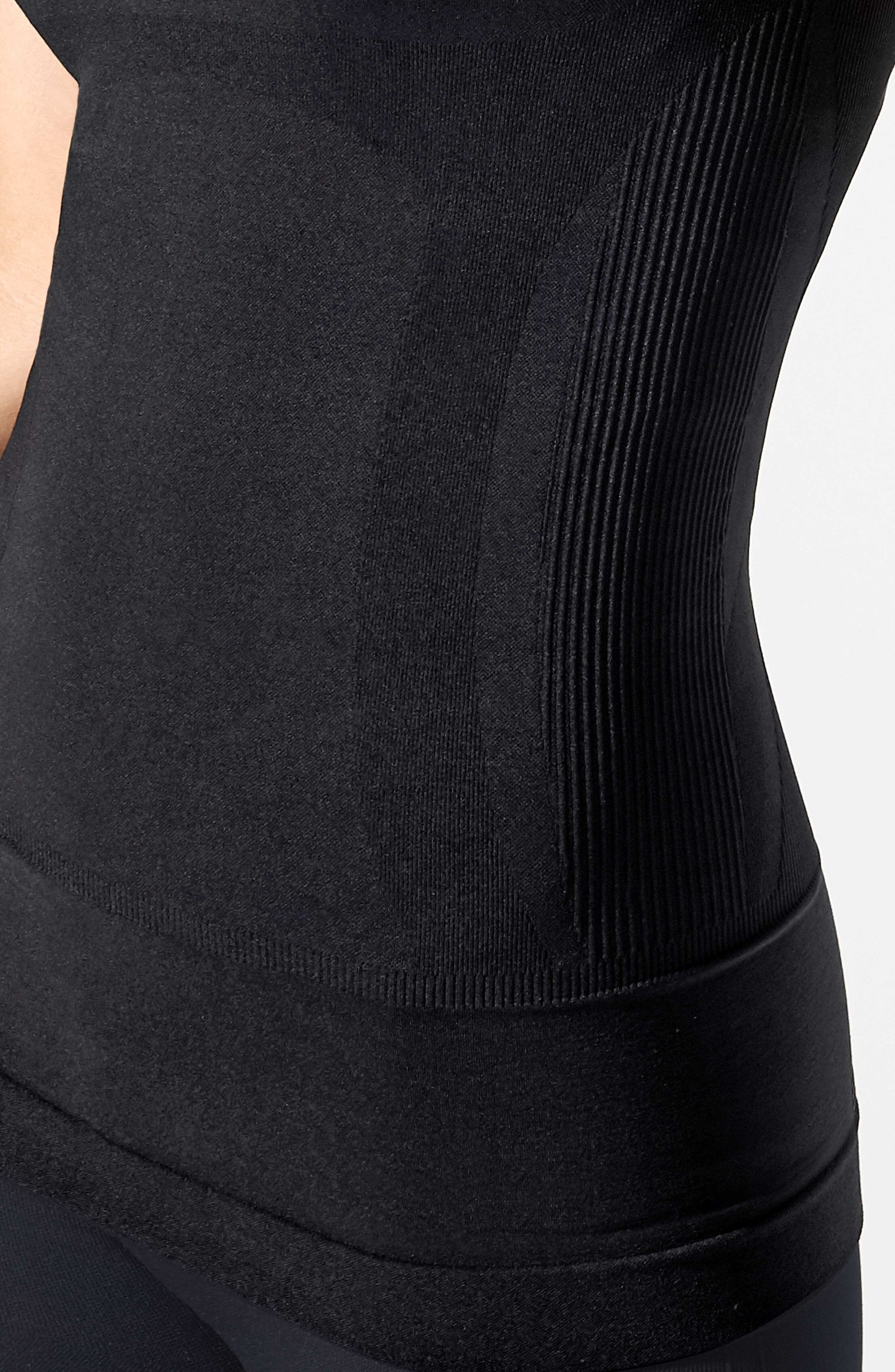 Everyday<sup>™</sup> Pull-Down Postpartum + Nursing Support Tank Top,                             Alternate thumbnail 5, color,                             DEEPEST BLACK