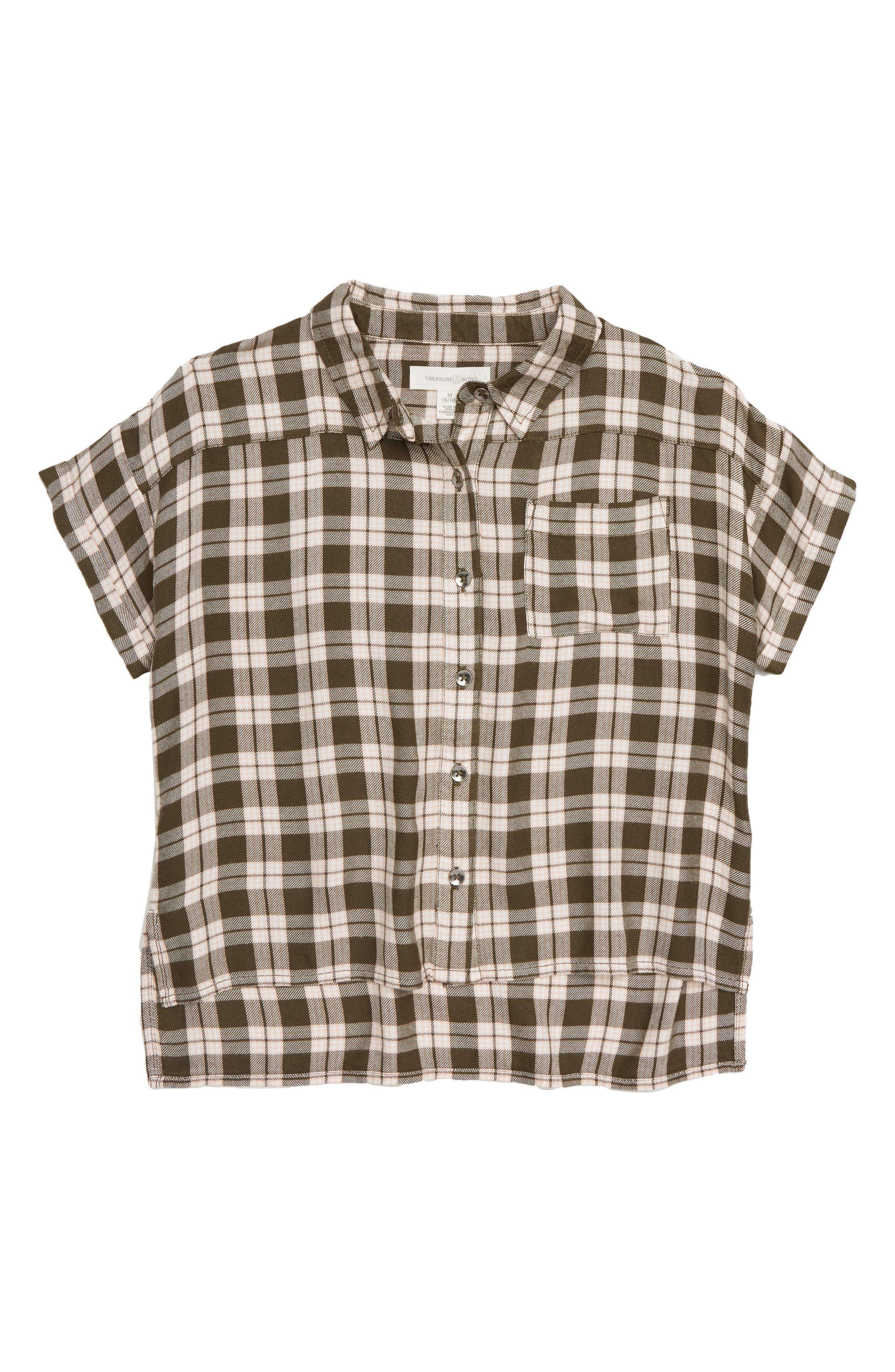 Plaid Flannel Shirt,                         Main,                         color, 311