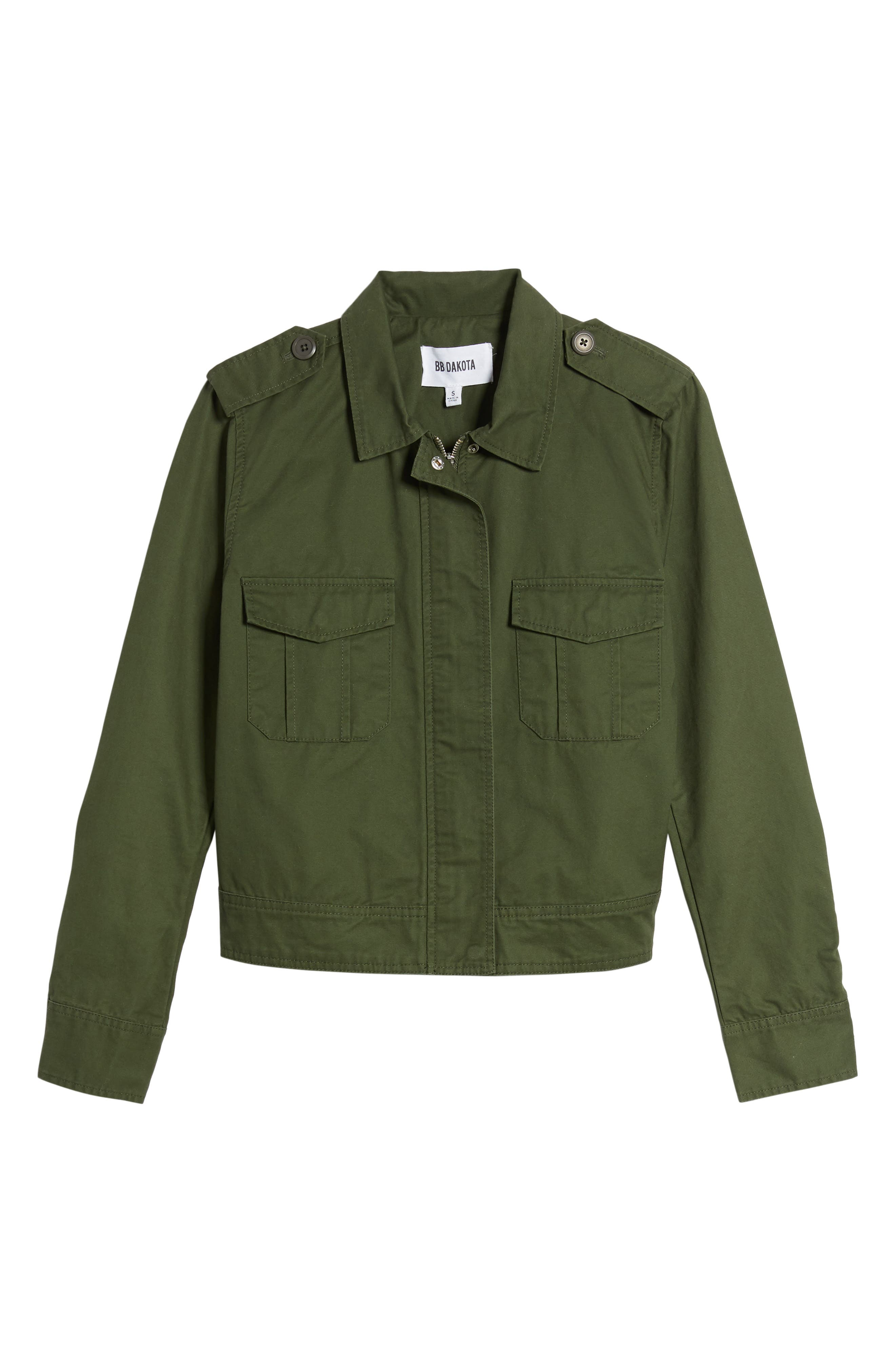 Maddox Cotton Twill Army Jacket,                             Alternate thumbnail 6, color,                             301