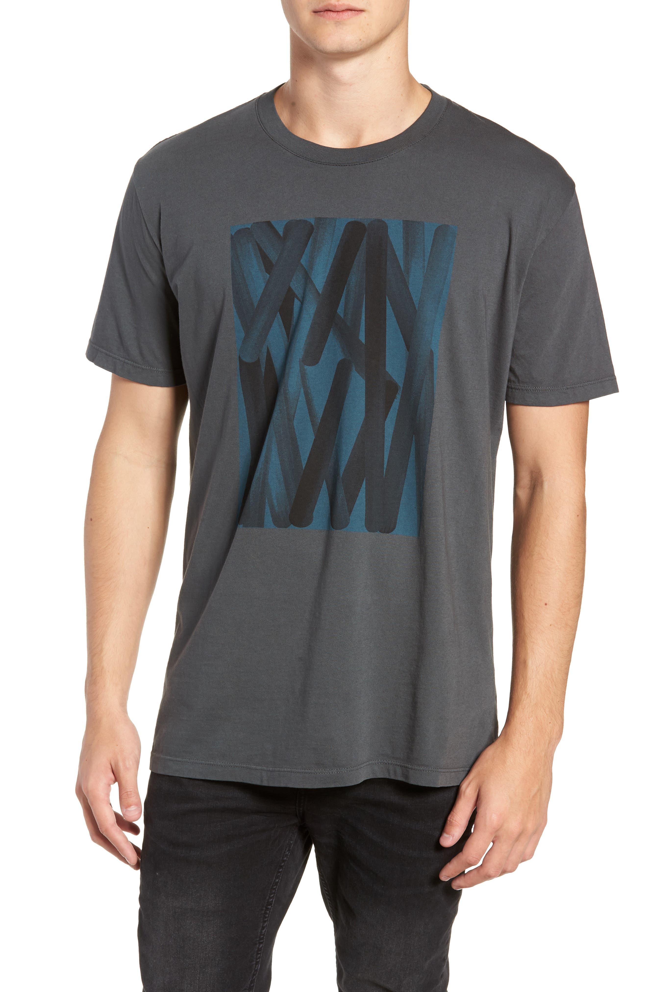 VESTIGE Color Abstraction T-Shirt in Dark Grey