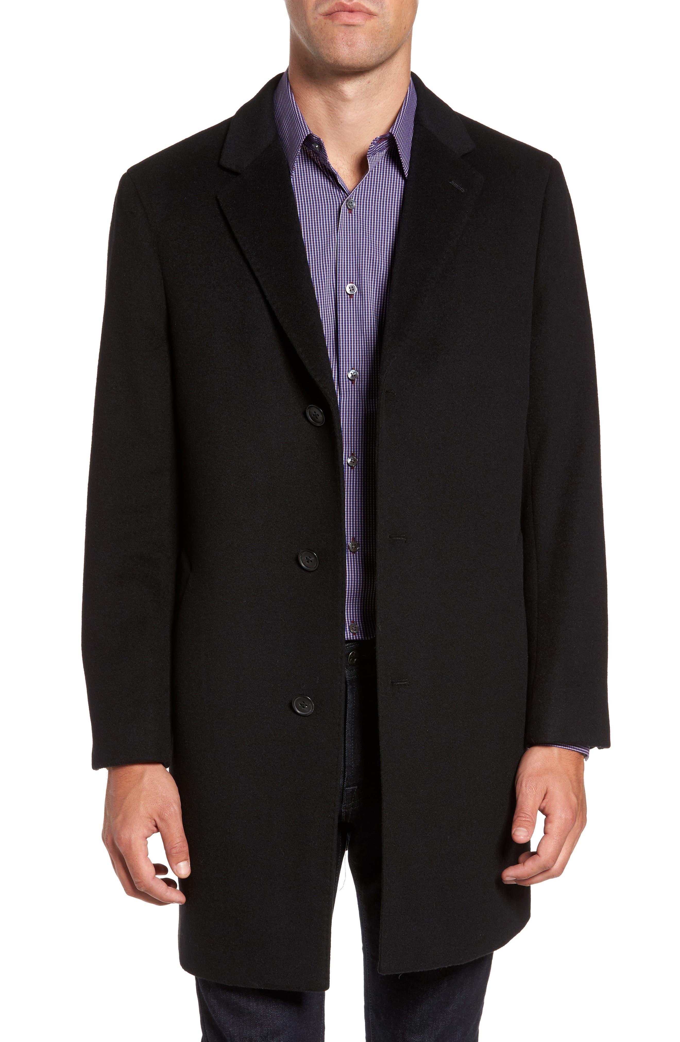 Mason Wool & Cashmere Overcoat,                         Main,                         color, 001