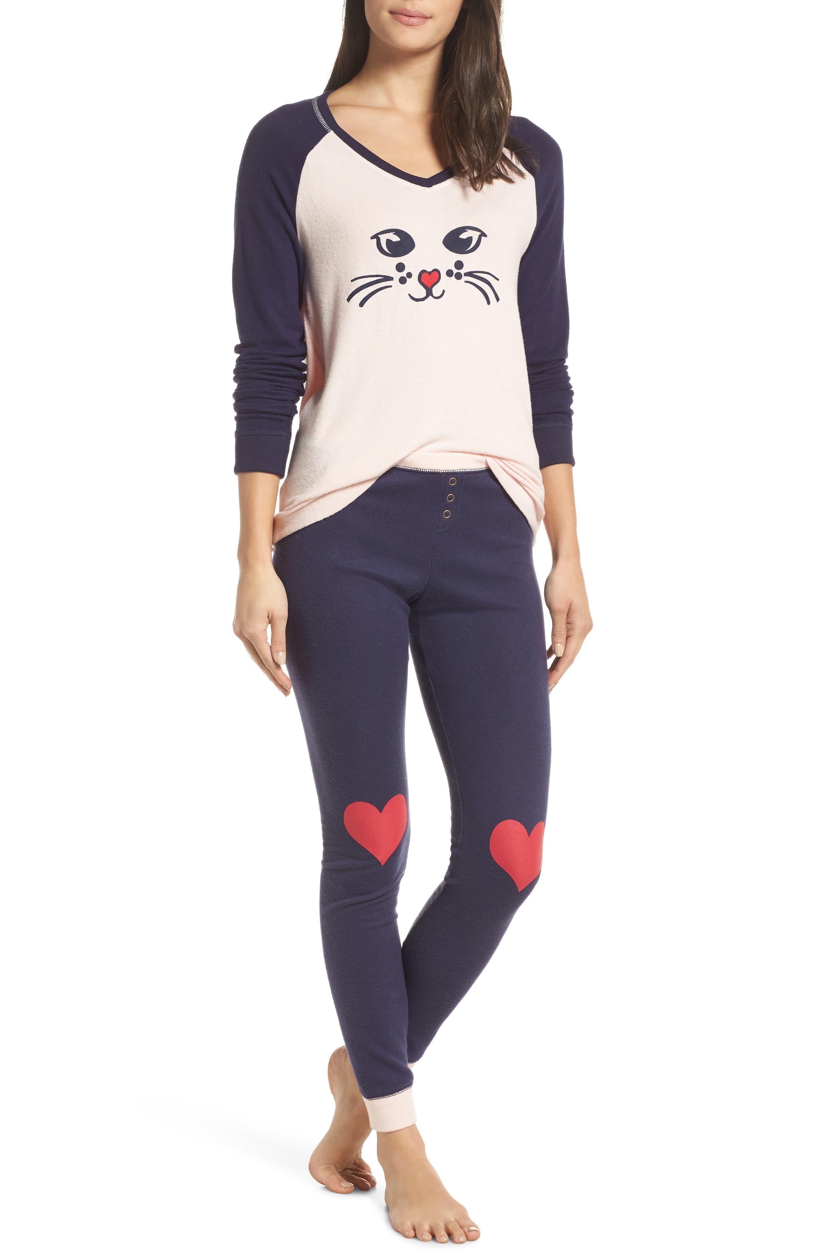 Make + Model Holiday Pajamas, Pink