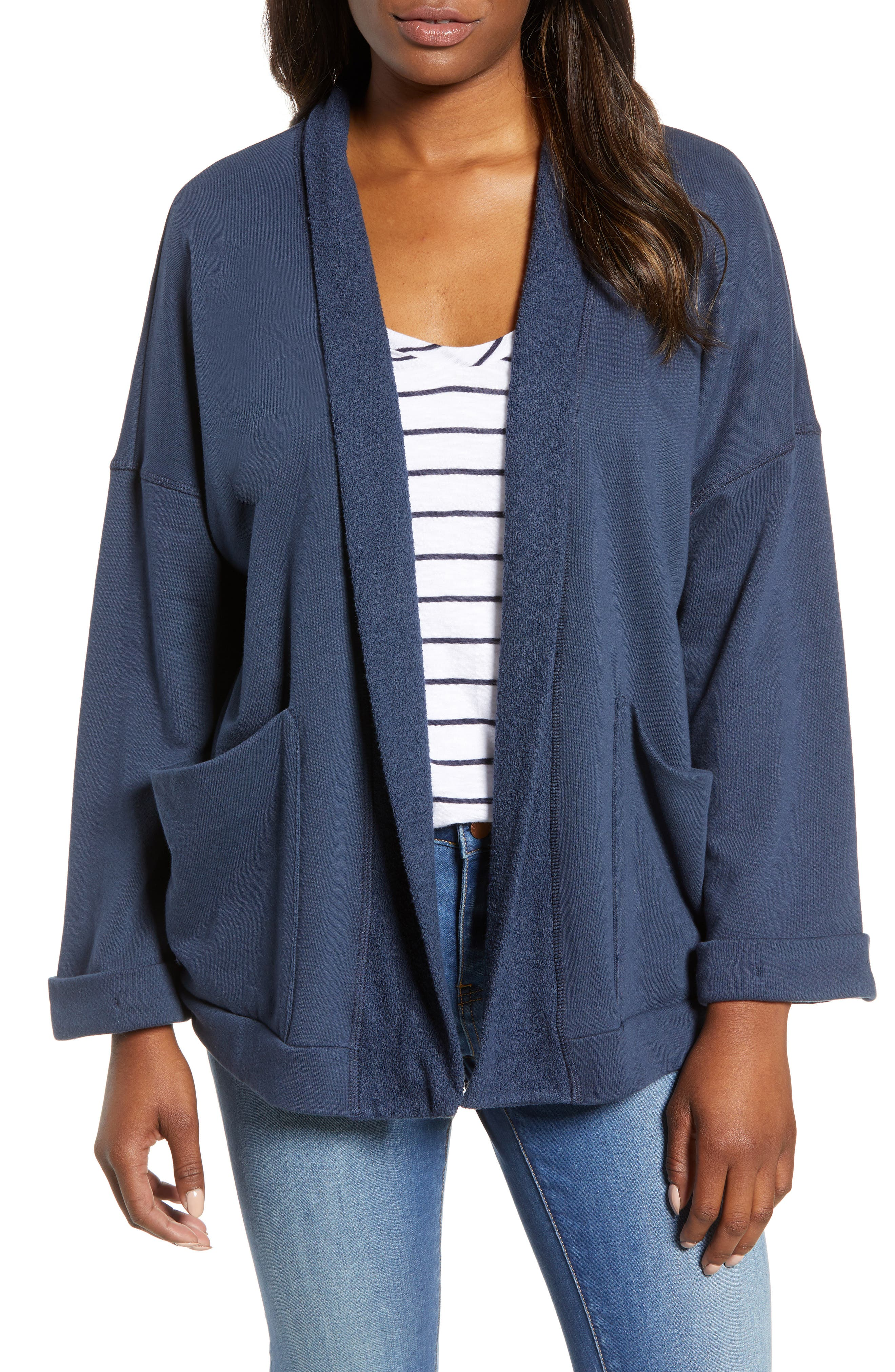 Off-Duty Roll Sleeve Cotton Blend Jacket,                             Main thumbnail 3, color,