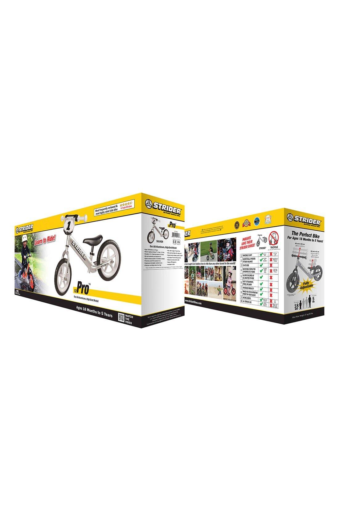 12 Pro Balance No Pedal Bike,                             Alternate thumbnail 8, color,                             SILVER
