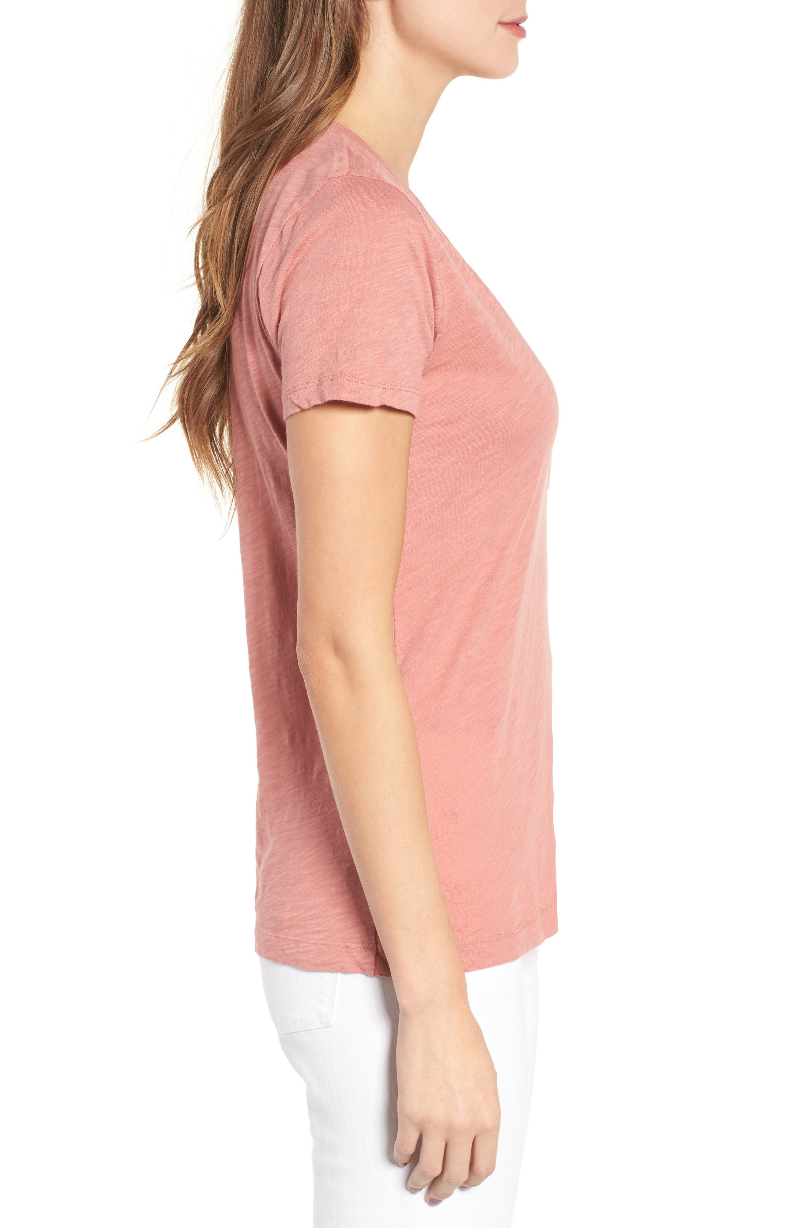 Whisper Cotton V-Neck Pocket Tee,                             Alternate thumbnail 121, color,