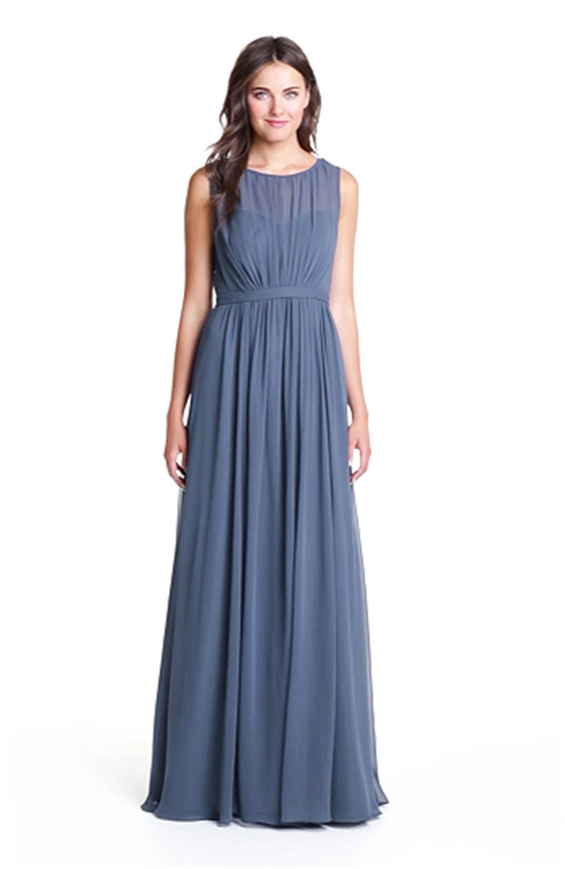 Vivienne Pleated Chiffon Gown,                             Alternate thumbnail 23, color,