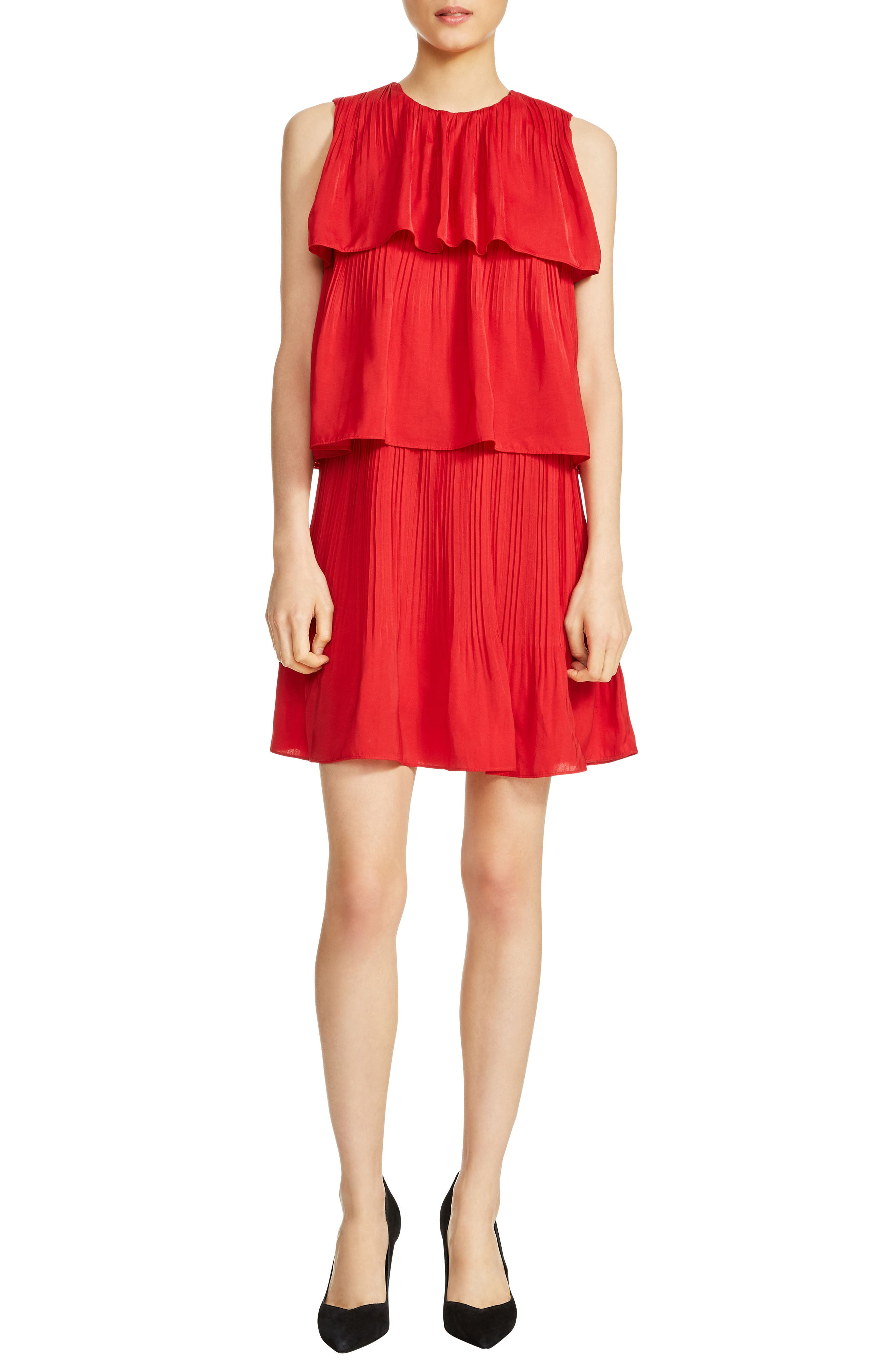 Rockano Tired Ruffle Dress,                             Main thumbnail 1, color,