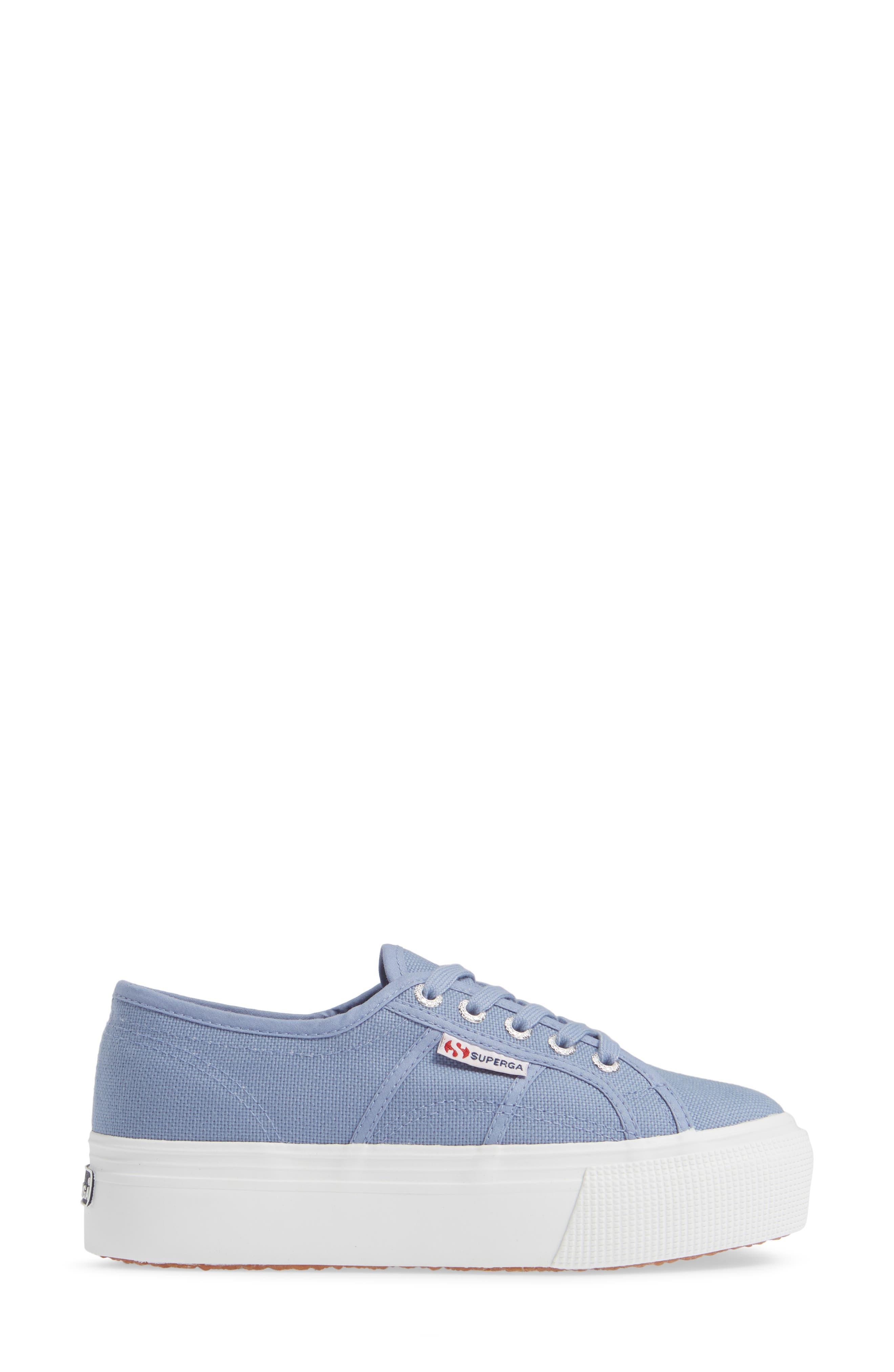 'Acot Linea' Sneaker,                             Alternate thumbnail 3, color,                             BLUE/ LIGHT PURPLE
