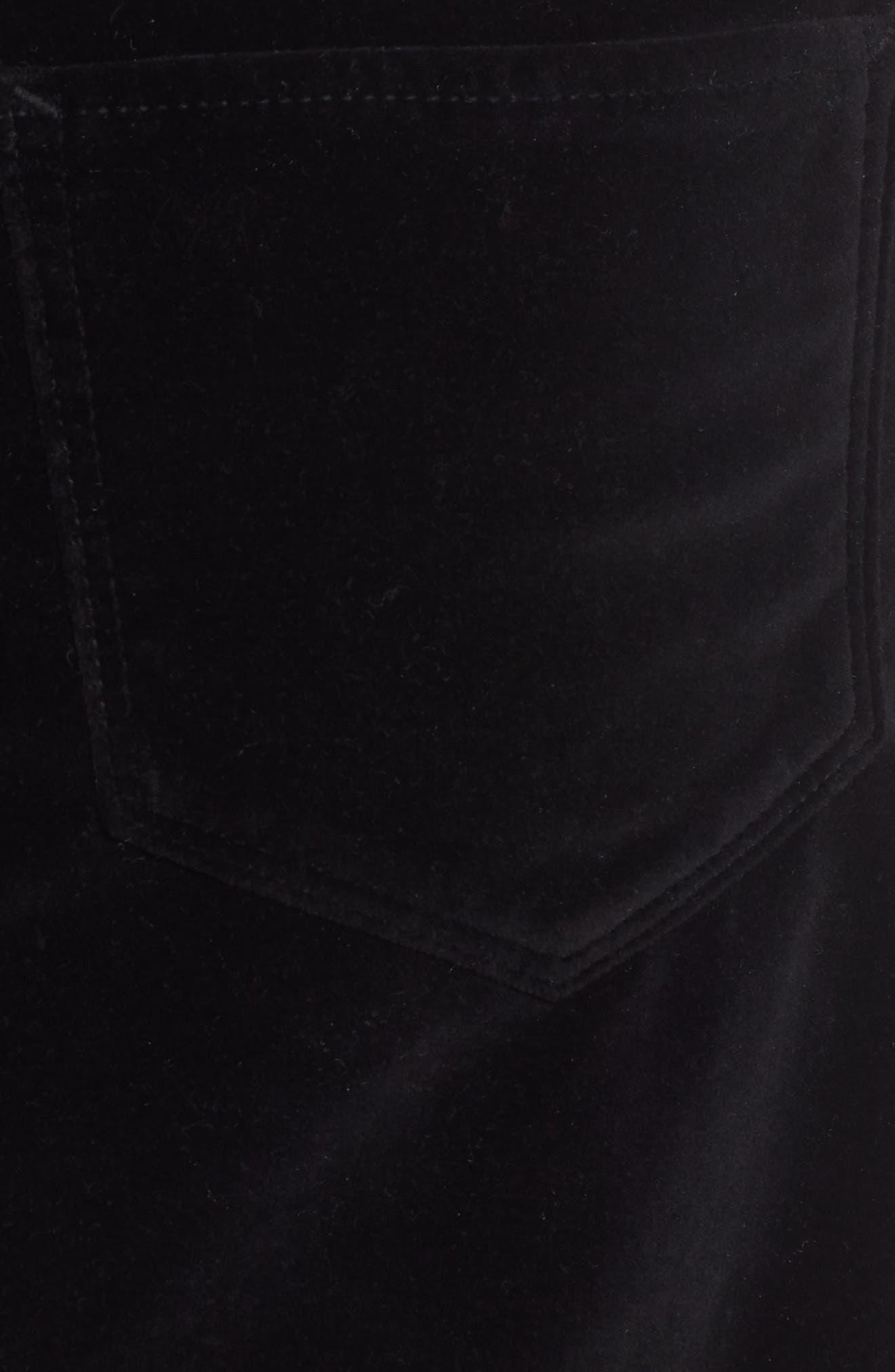 HUDSON JEANS,                             Hudson The Viper Miniskirt,                             Alternate thumbnail 4, color,                             001