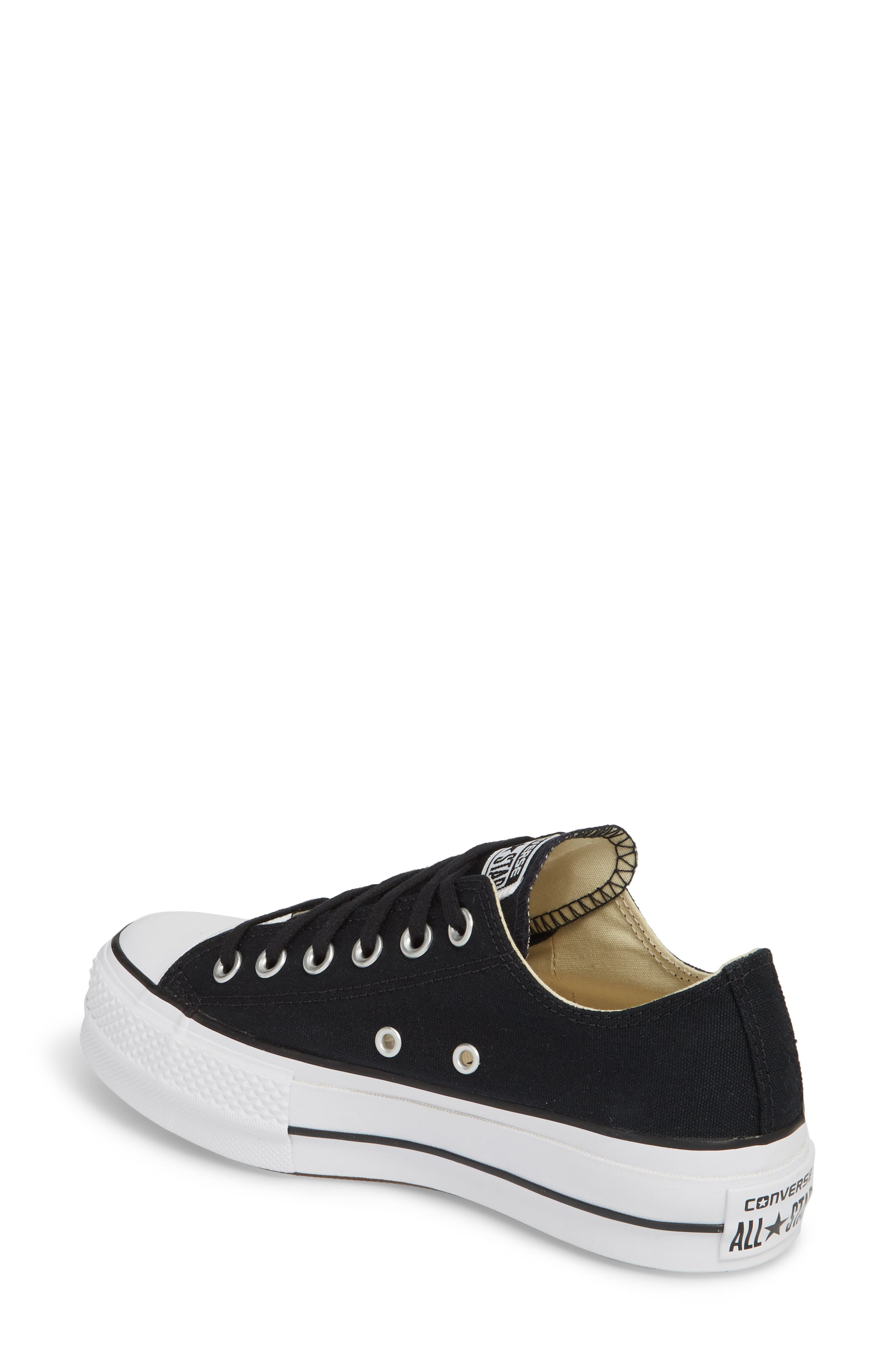 Chuck Taylor<sup>®</sup> All Star<sup>®</sup> Platform Sneaker,                             Alternate thumbnail 2, color,                             BLACK/ WHITE/ WHITE