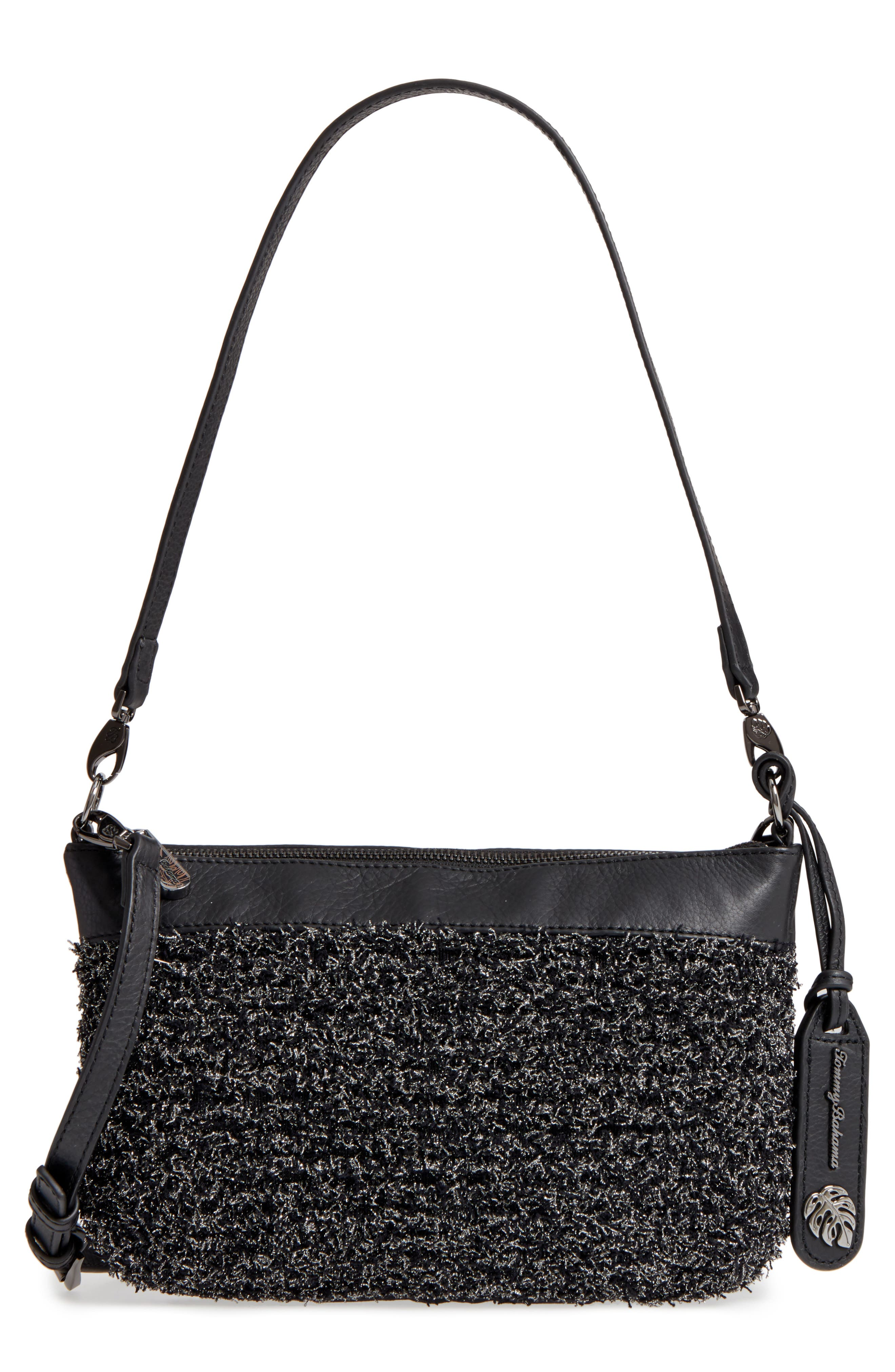 Can Can Convertible Leather Crossbody Bag,                             Main thumbnail 1, color,                             001