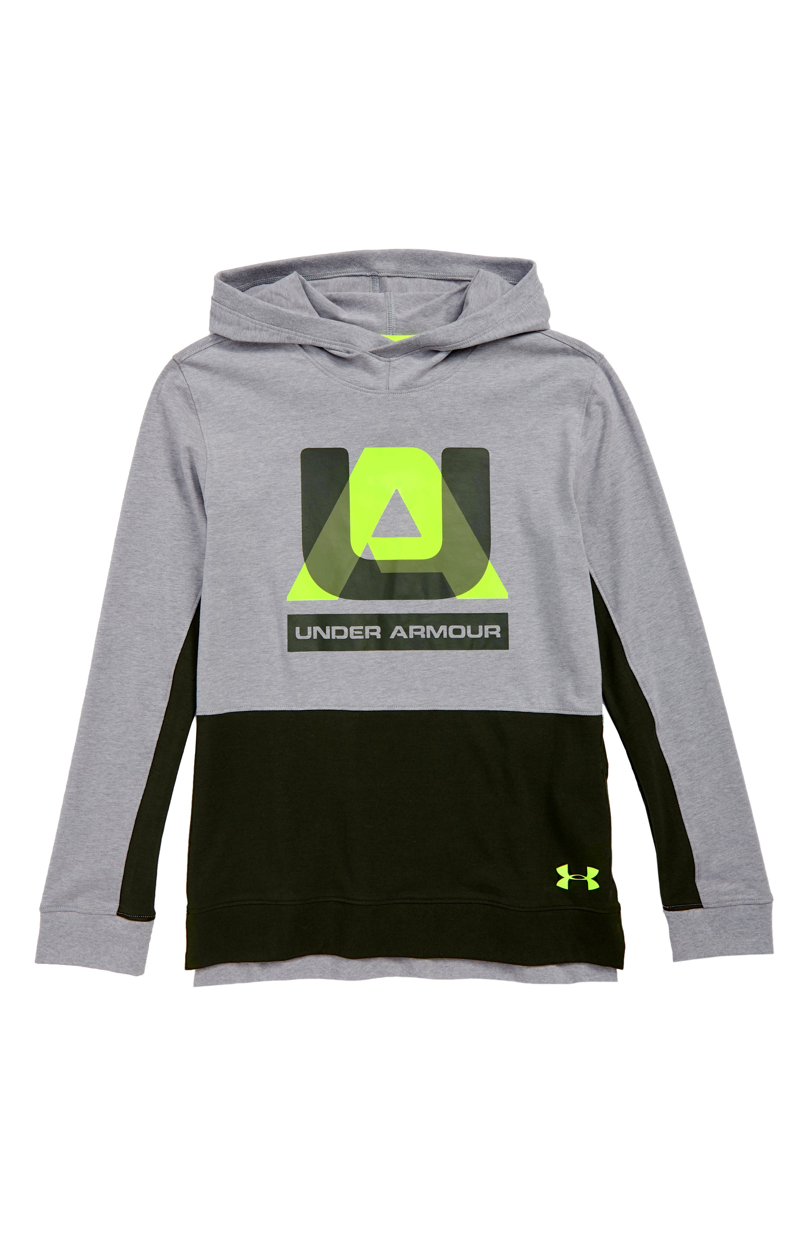 Sportstyle Charged Cotton<sup>®</sup> Hoodie,                             Main thumbnail 1, color,                             HEATHER/ YELLOW
