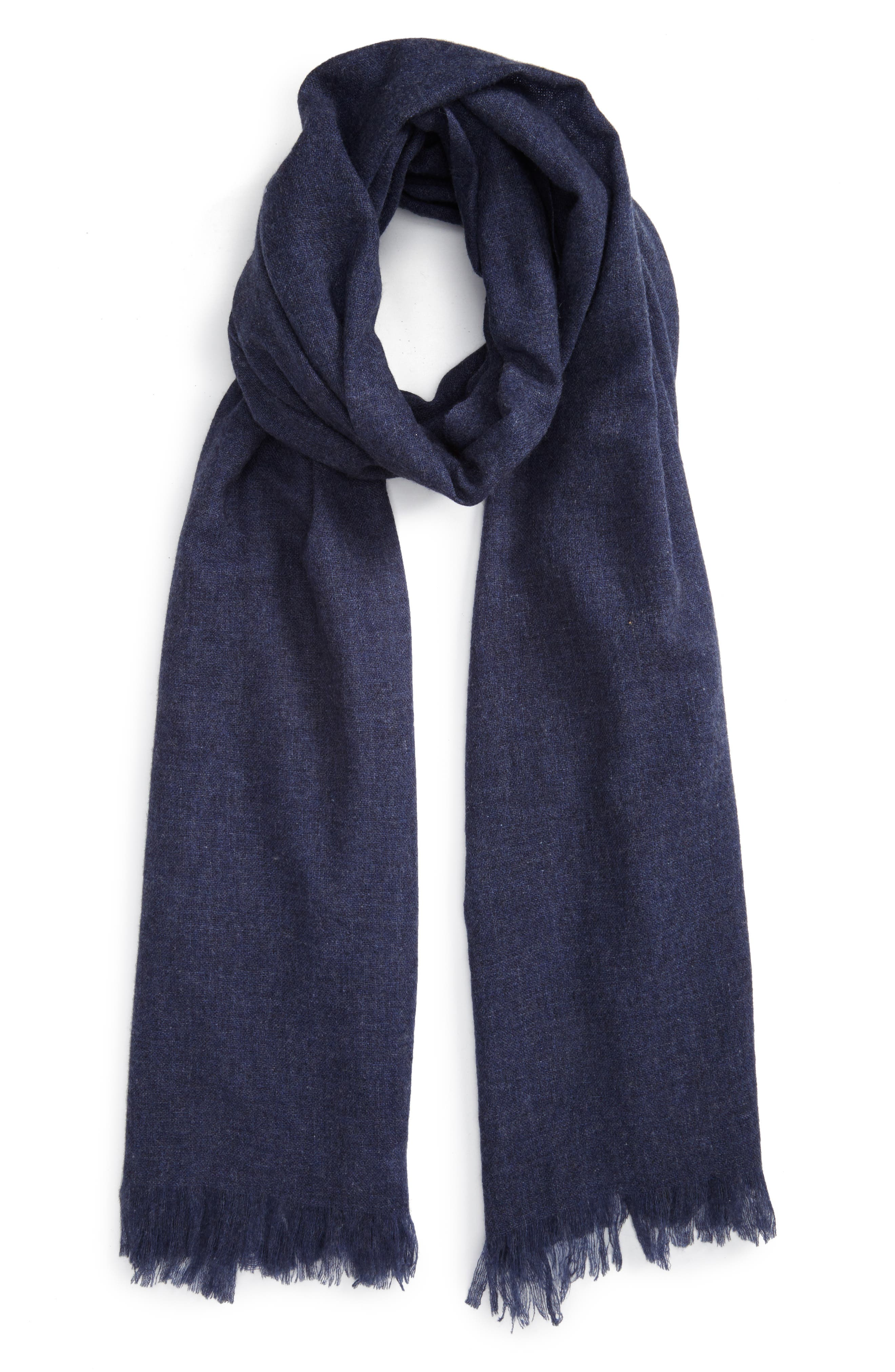 Caslon<sup>®</sup> Heathered Cashmere Gauze Scarf,                             Main thumbnail 7, color,