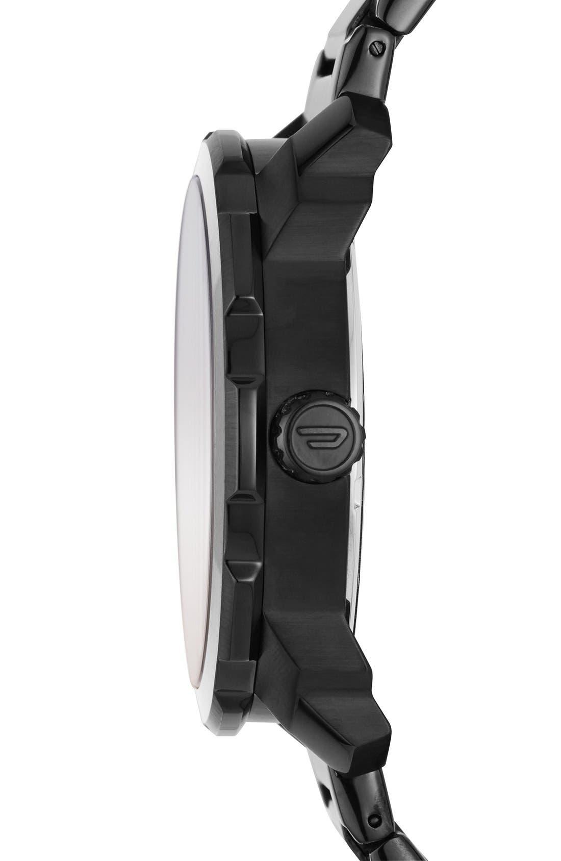 DIESEL<SUP>®</SUP>,                             'Mac 3' Bracelet Watch, 46mm,                             Alternate thumbnail 2, color,                             001