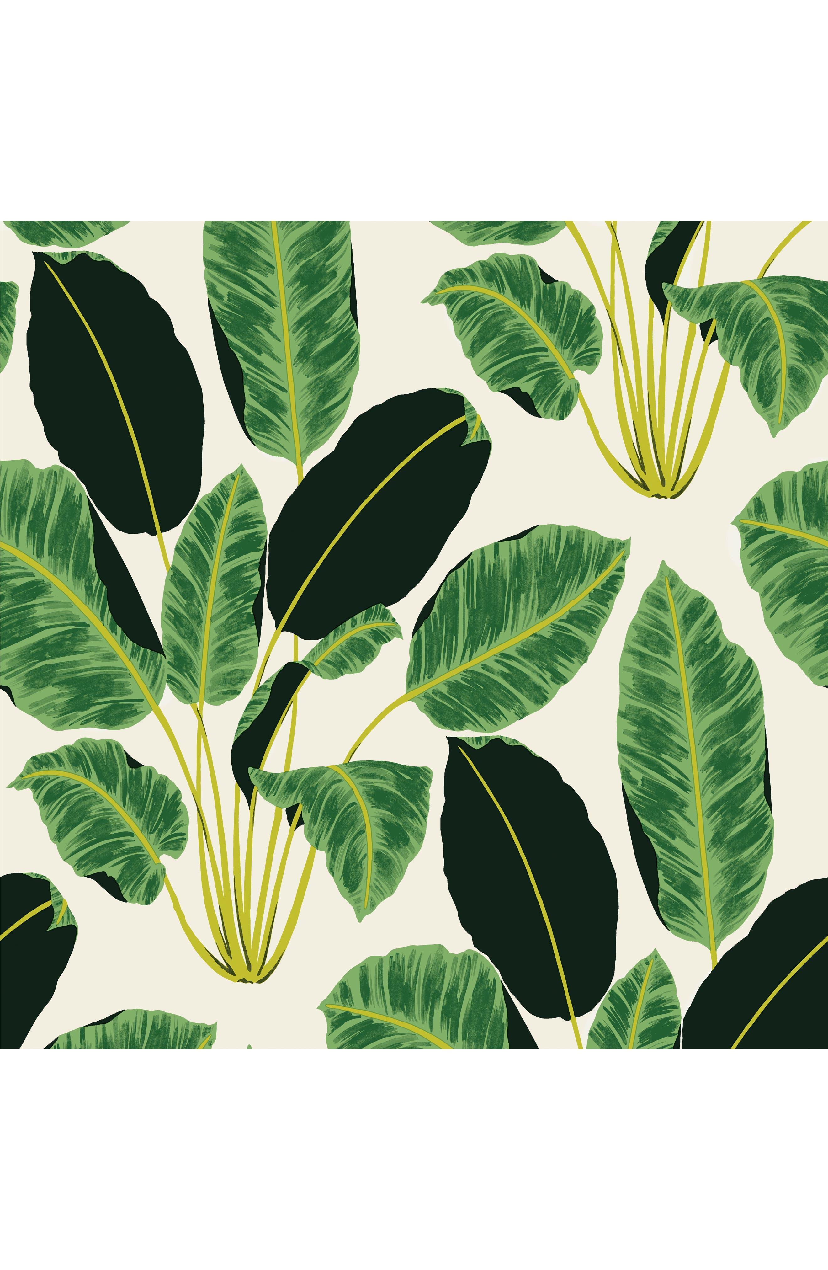 Hojas Cubanas Self-Adhesive Vinyl Wallpaper,                             Main thumbnail 1, color,                             300