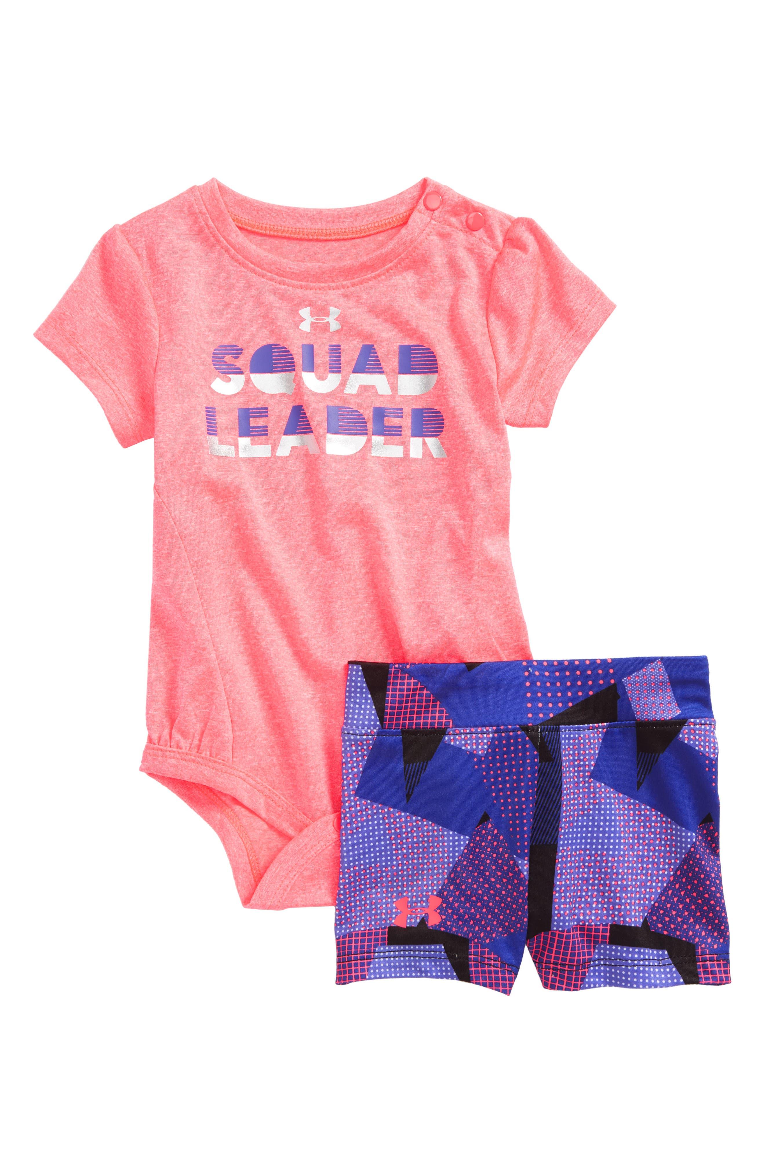 Squad Leader Bodysuit & Shorts Set,                             Main thumbnail 1, color,                             650