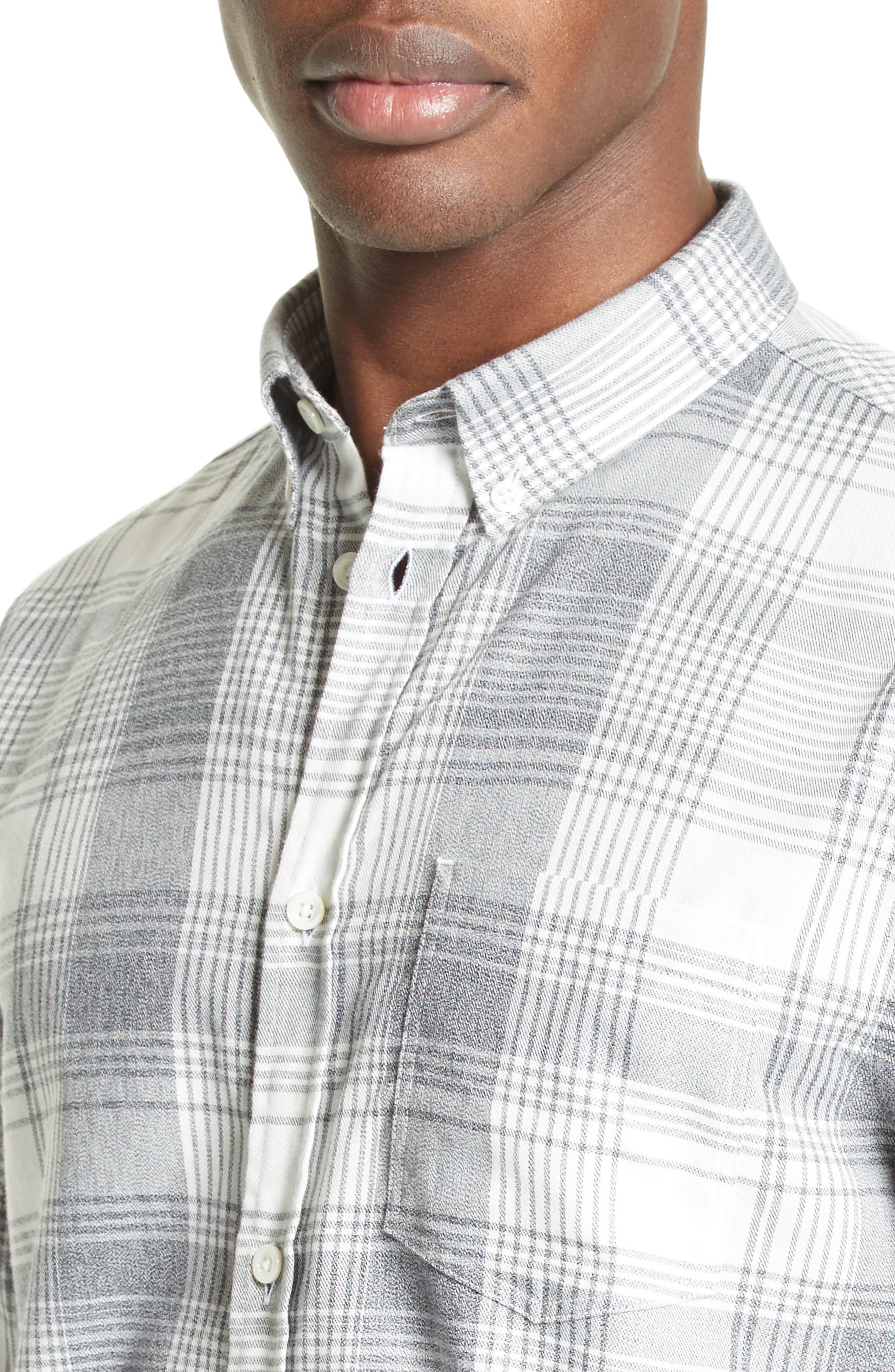 Woven Check Sport Shirt,                             Alternate thumbnail 5, color,                             410