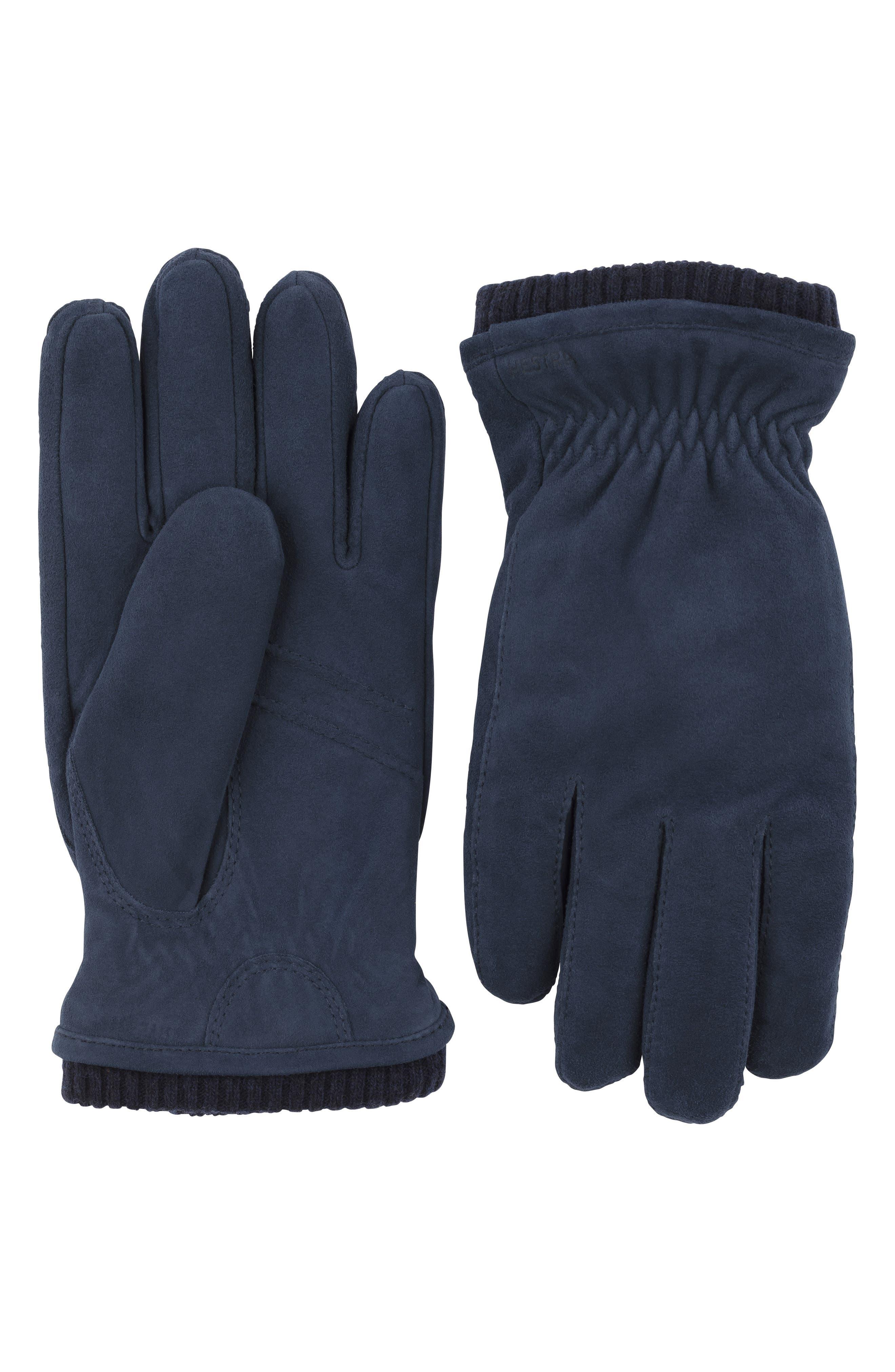 Hestra Nathan Suede Gloves, Blue
