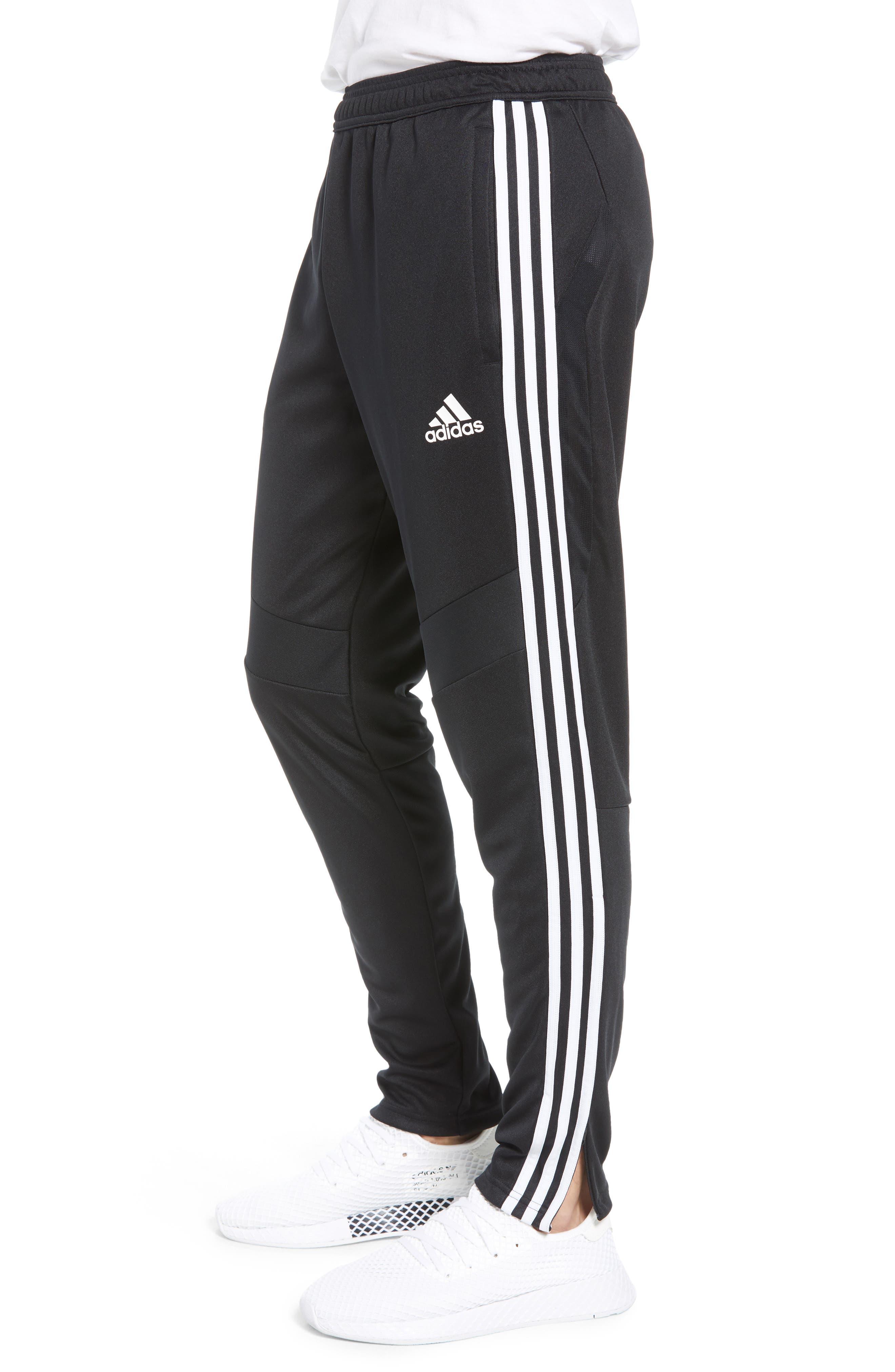 ADIDAS,                             Tiro Soccer Training Pants,                             Alternate thumbnail 3, color,                             BLACK/ WHITE