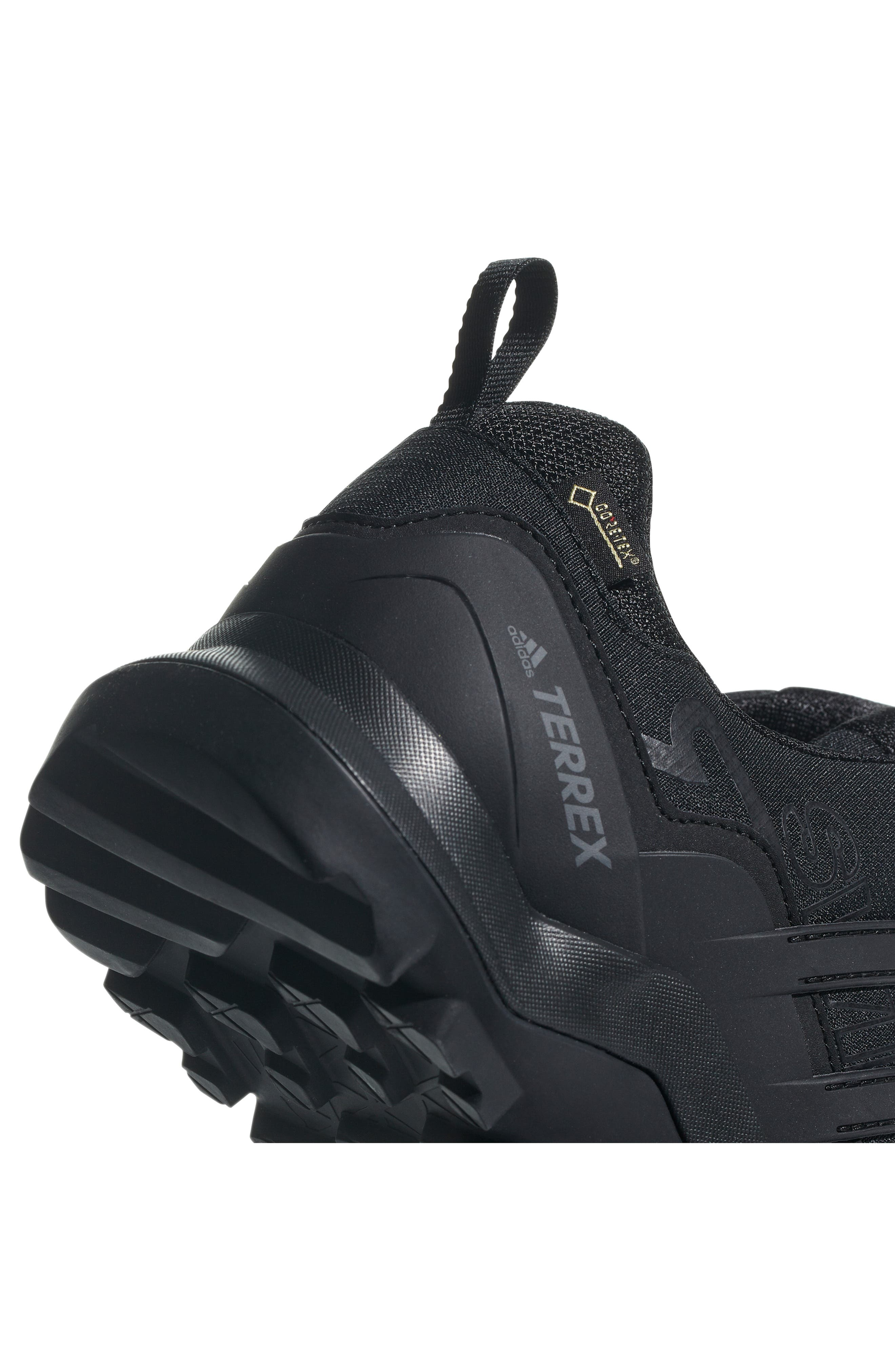 ADIDAS,                             Terrex Swift R2 GTX Gore-Tex<sup>®</sup> Waterproof Hiking Shoe,                             Alternate thumbnail 9, color,                             BLACK/ BLACK/ BLACK