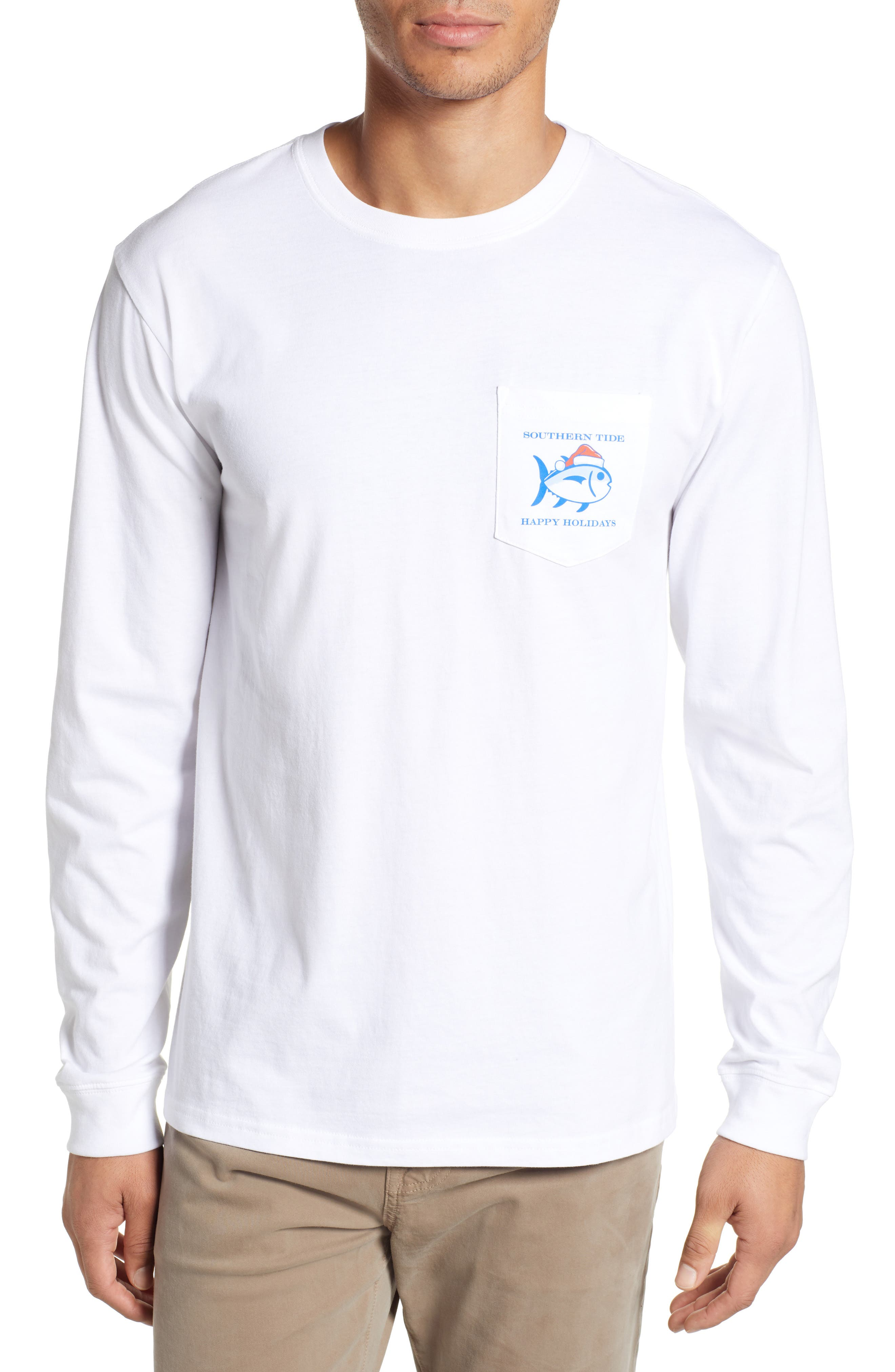 SOUTHERN TIDE 'Twas The Day After Christmas T-Shirt in Classic White