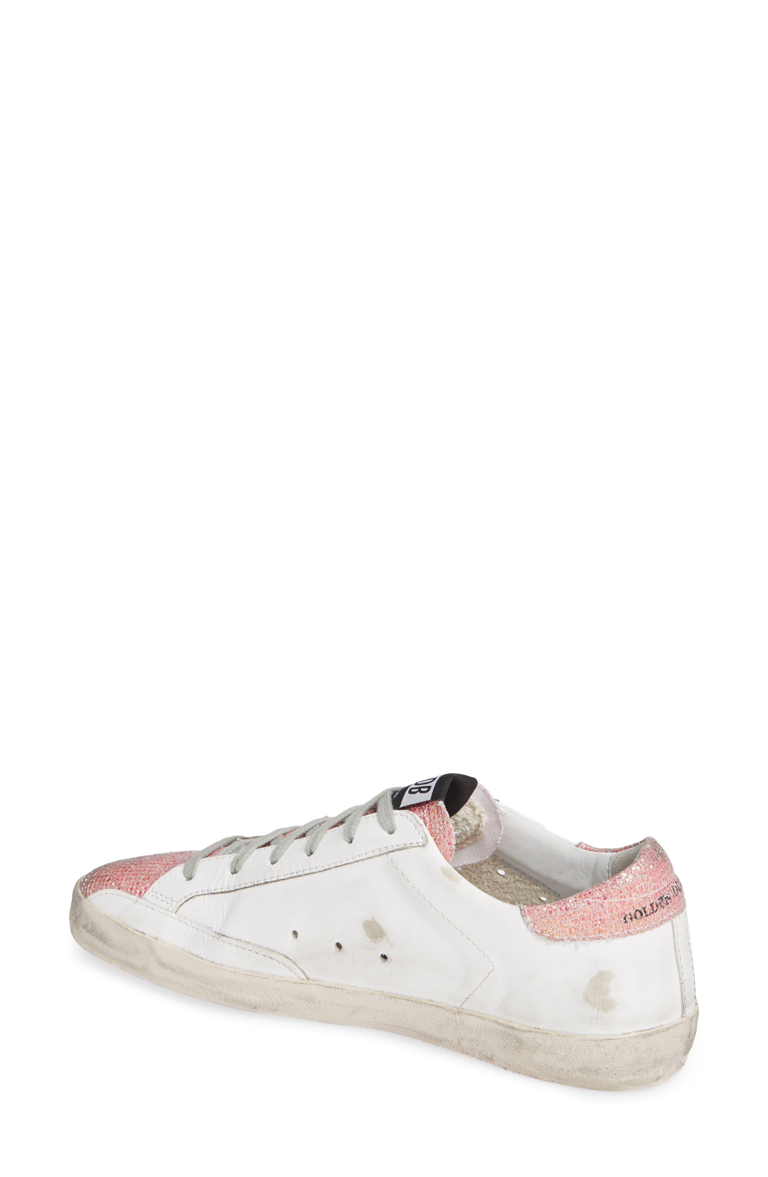 Superstar Sneaker,                             Alternate thumbnail 2, color,                             WHITE/ PINK