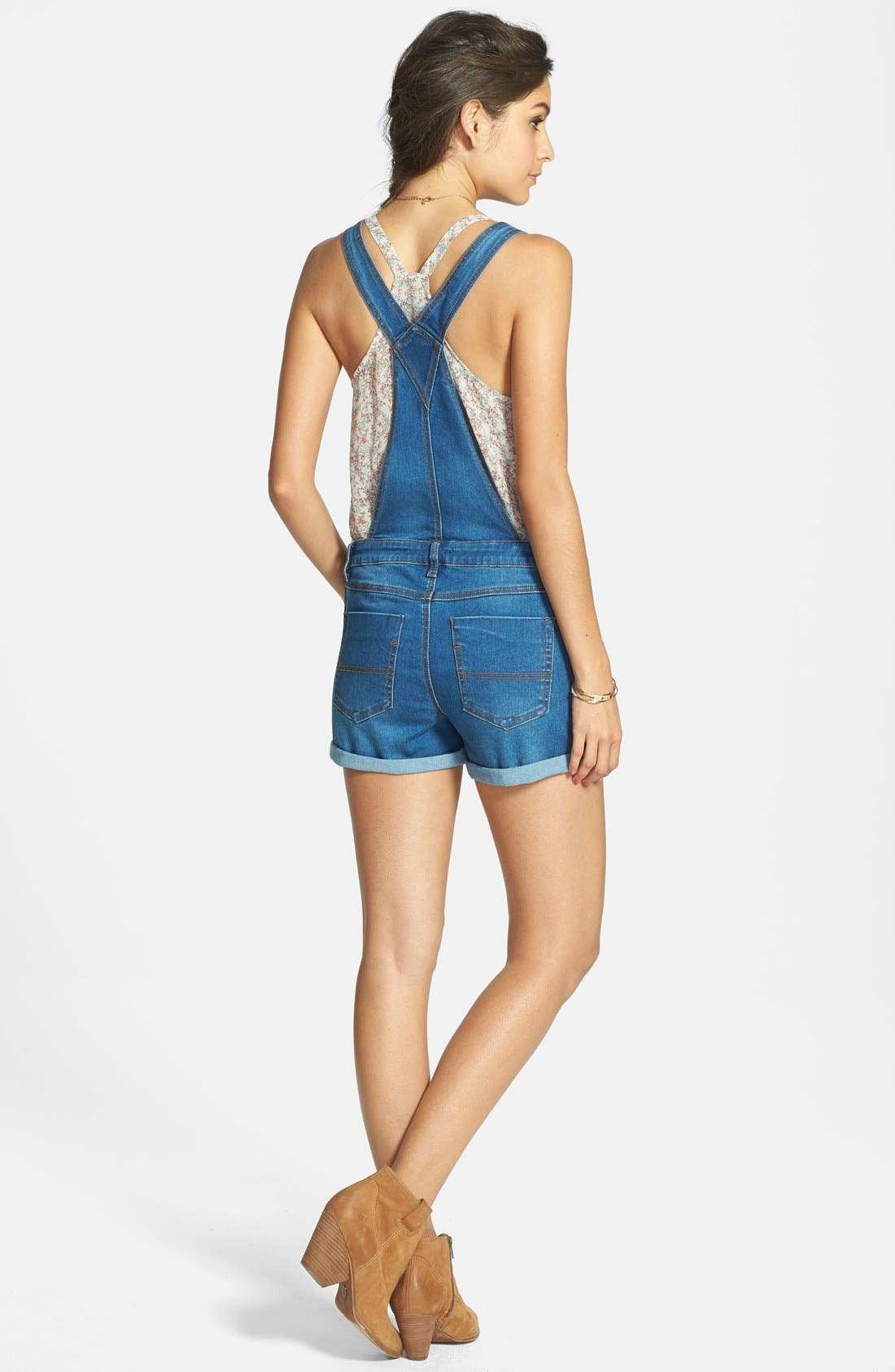 Fire Cuffed Short Overalls,                             Alternate thumbnail 2, color,                             404