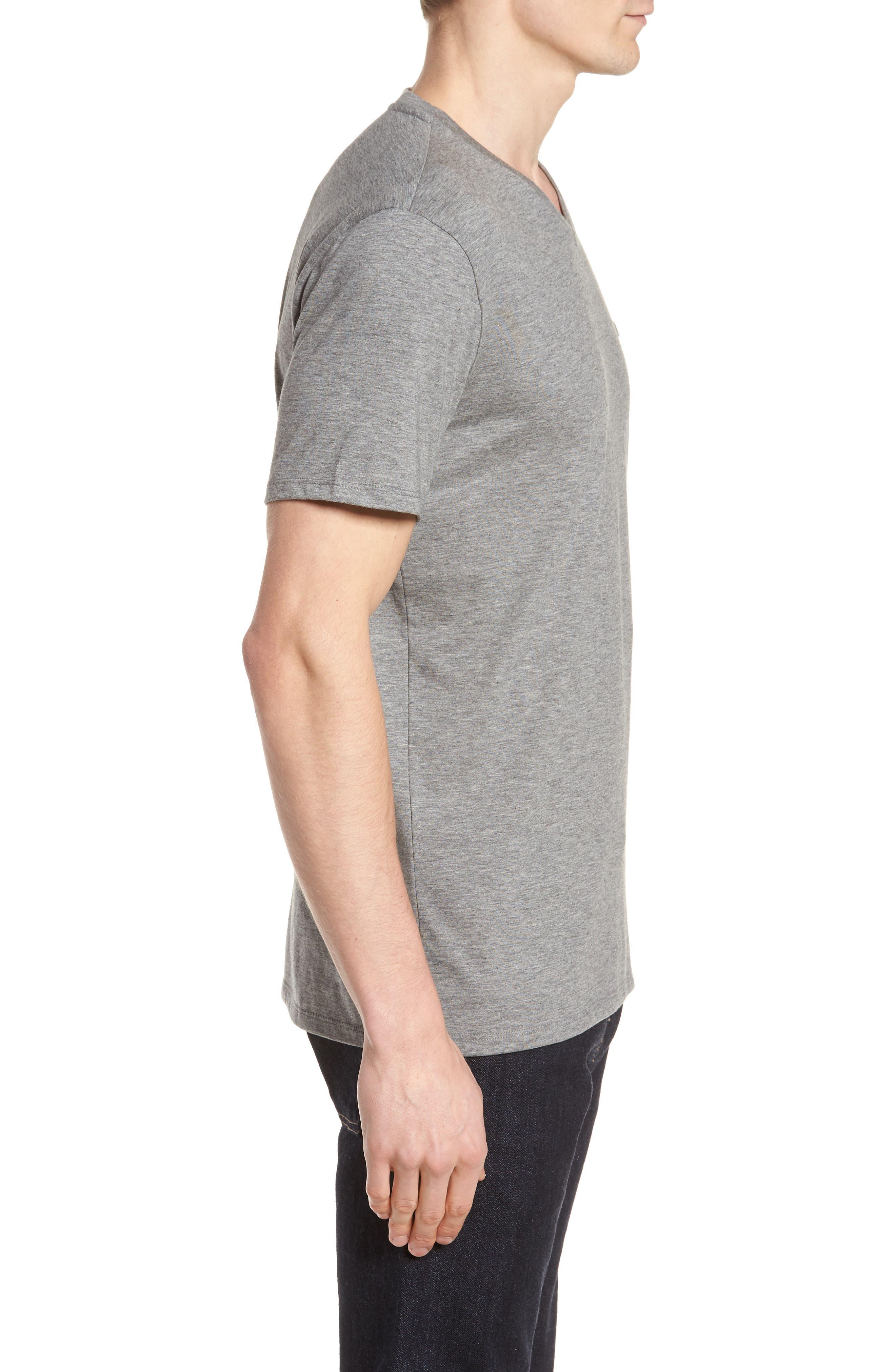 Pima Cotton T-Shirt,                             Alternate thumbnail 3, color,                             GALAXITE CHINE