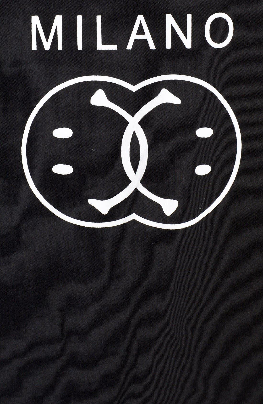 'Milano' Logo T-Shirt,                             Alternate thumbnail 3, color,                             001