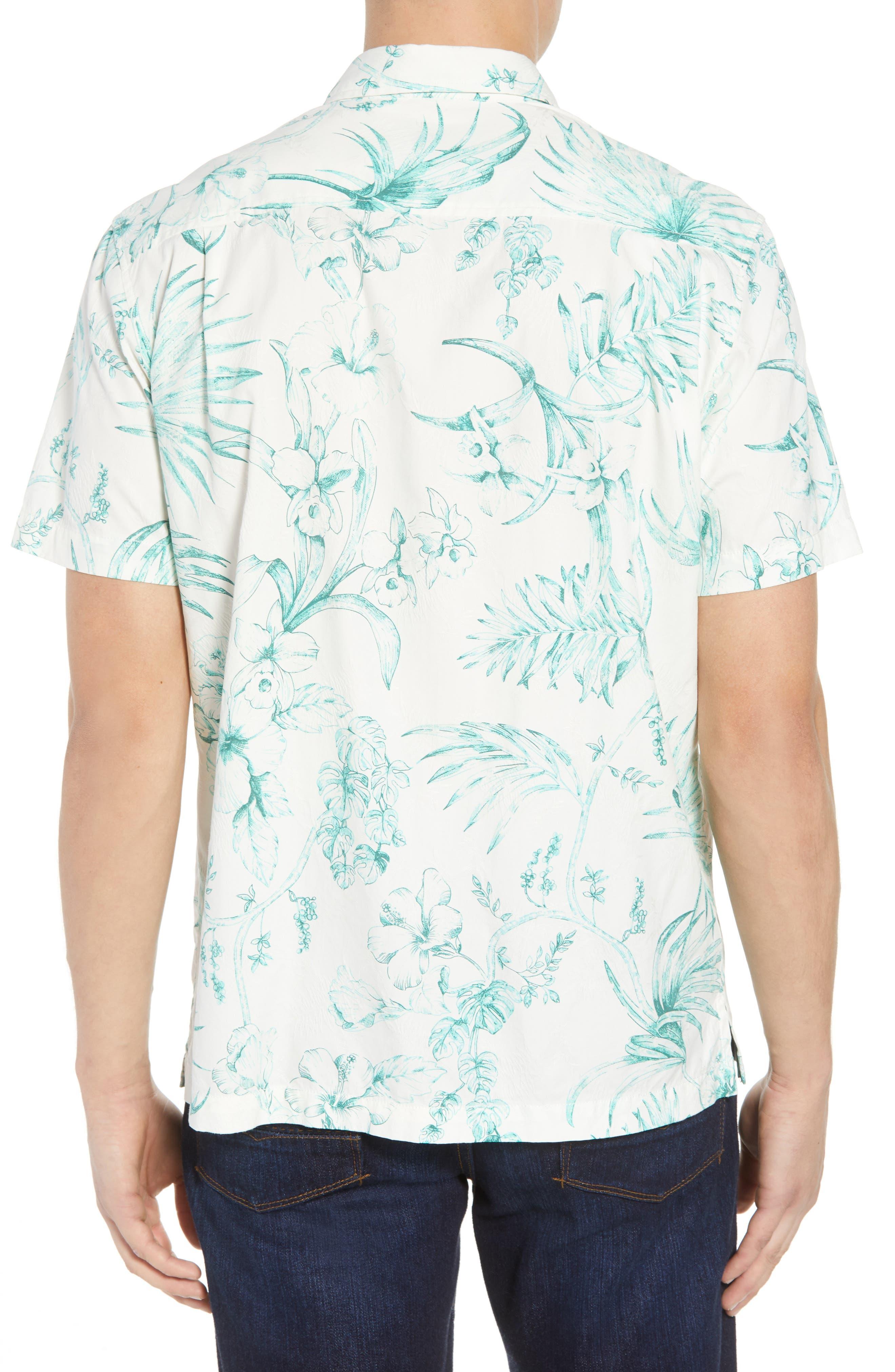 El Botanico Regular Fit Cotton & Silk Sport Shirt,                             Alternate thumbnail 2, color,                             MARBLE CRE