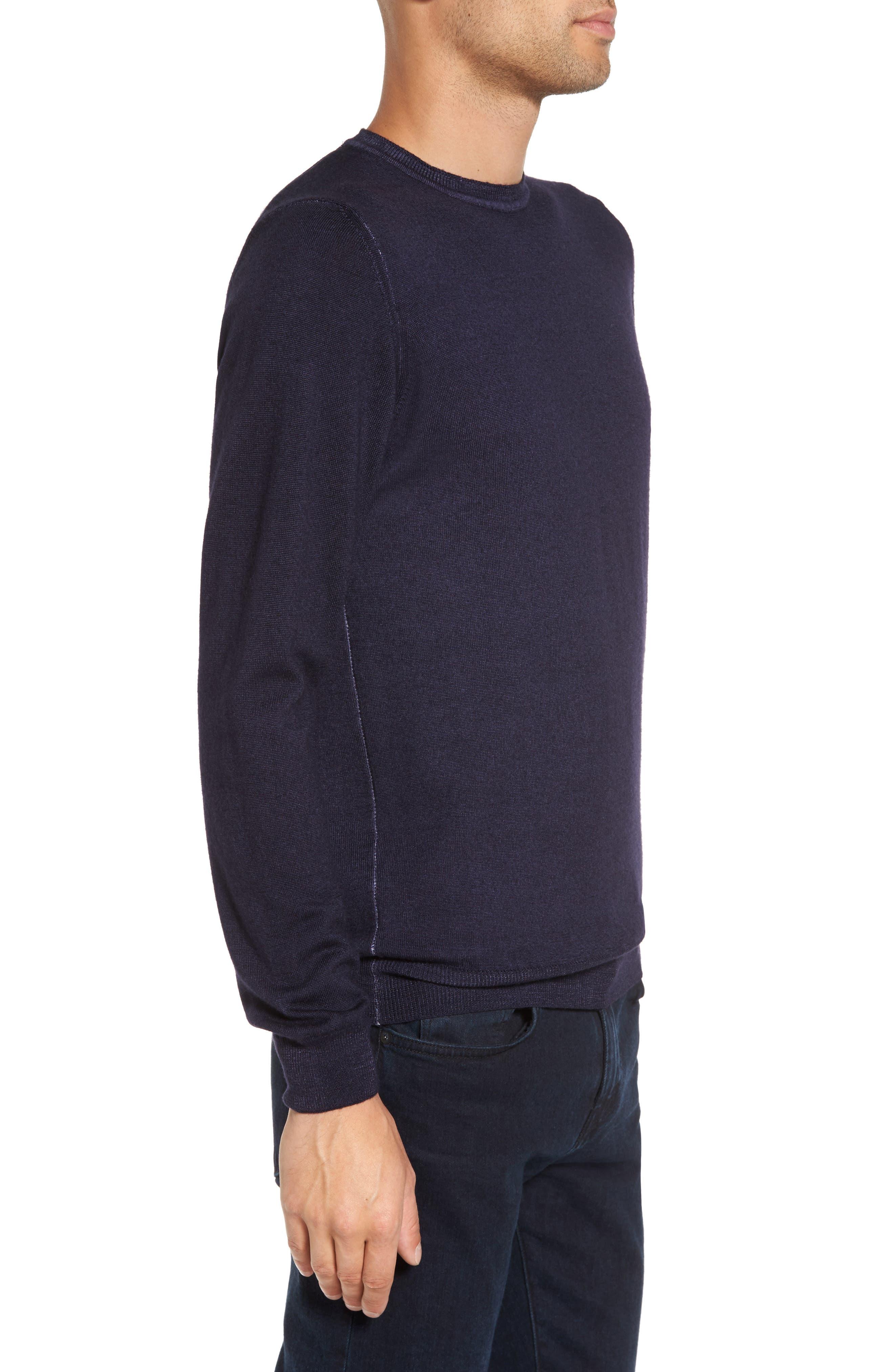 V-Neck Merino Wool Sweater,                             Alternate thumbnail 9, color,