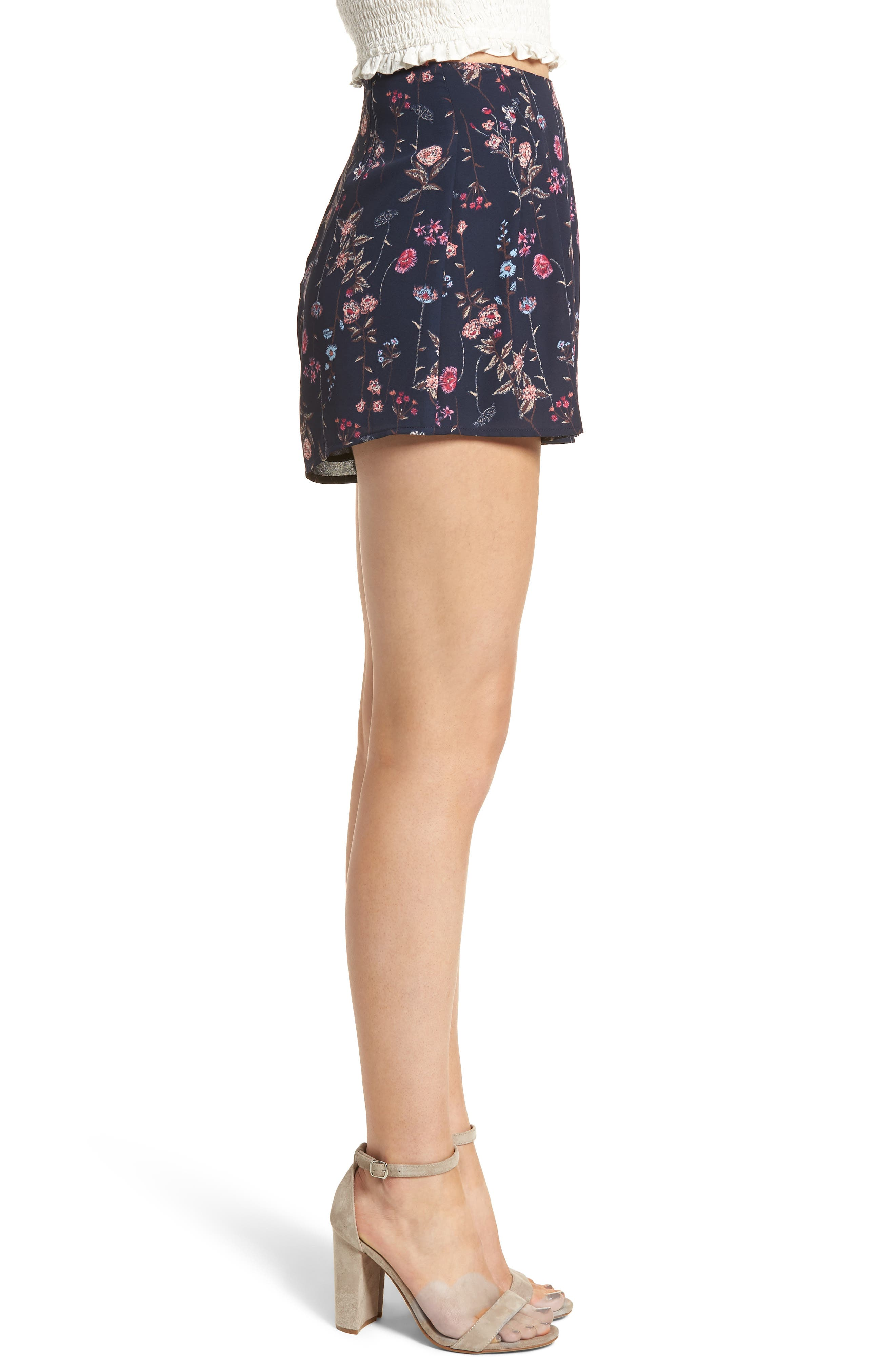 Pleat Front High Waist Shorts,                             Alternate thumbnail 8, color,