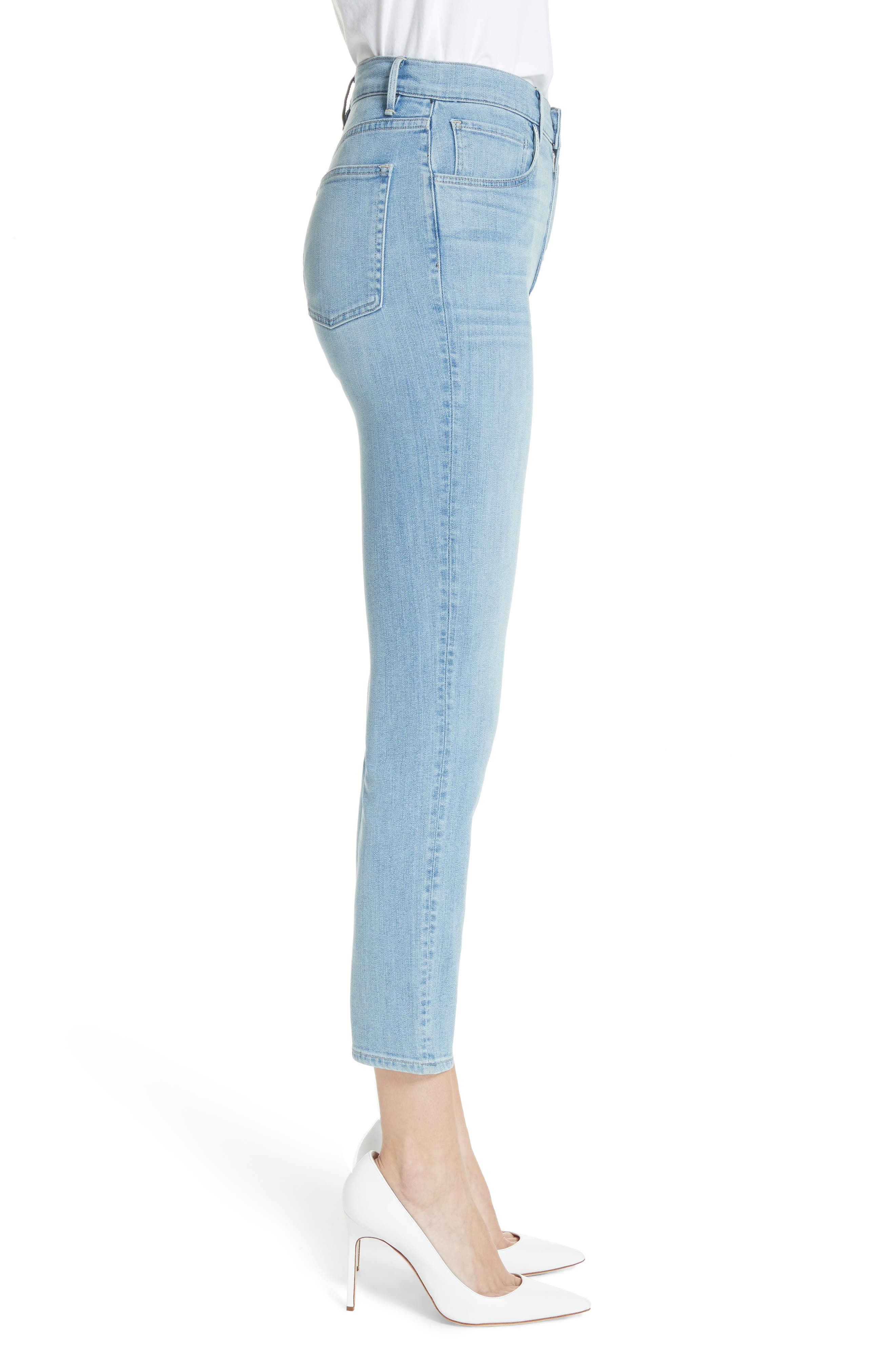 W4 Colette Crop Skinny Jeans,                             Alternate thumbnail 3, color,                             CARLO