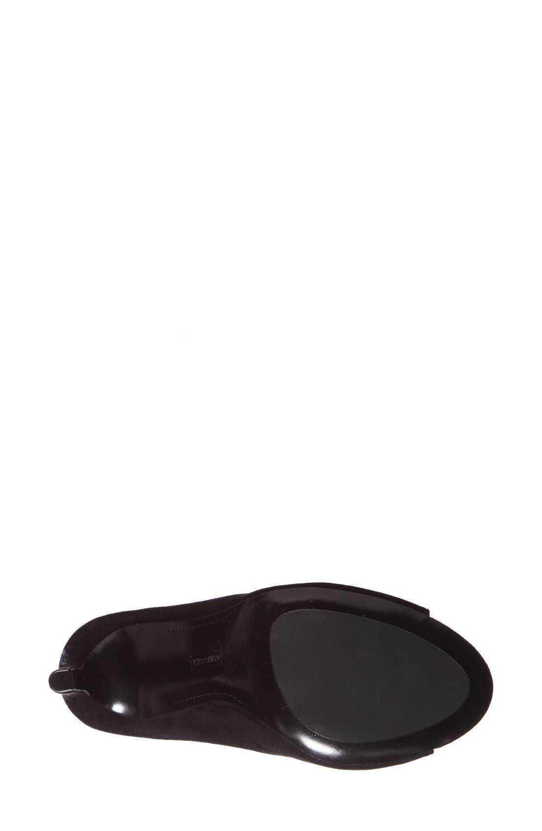 'Karolynn' Leather Pump,                             Alternate thumbnail 4, color,                             001