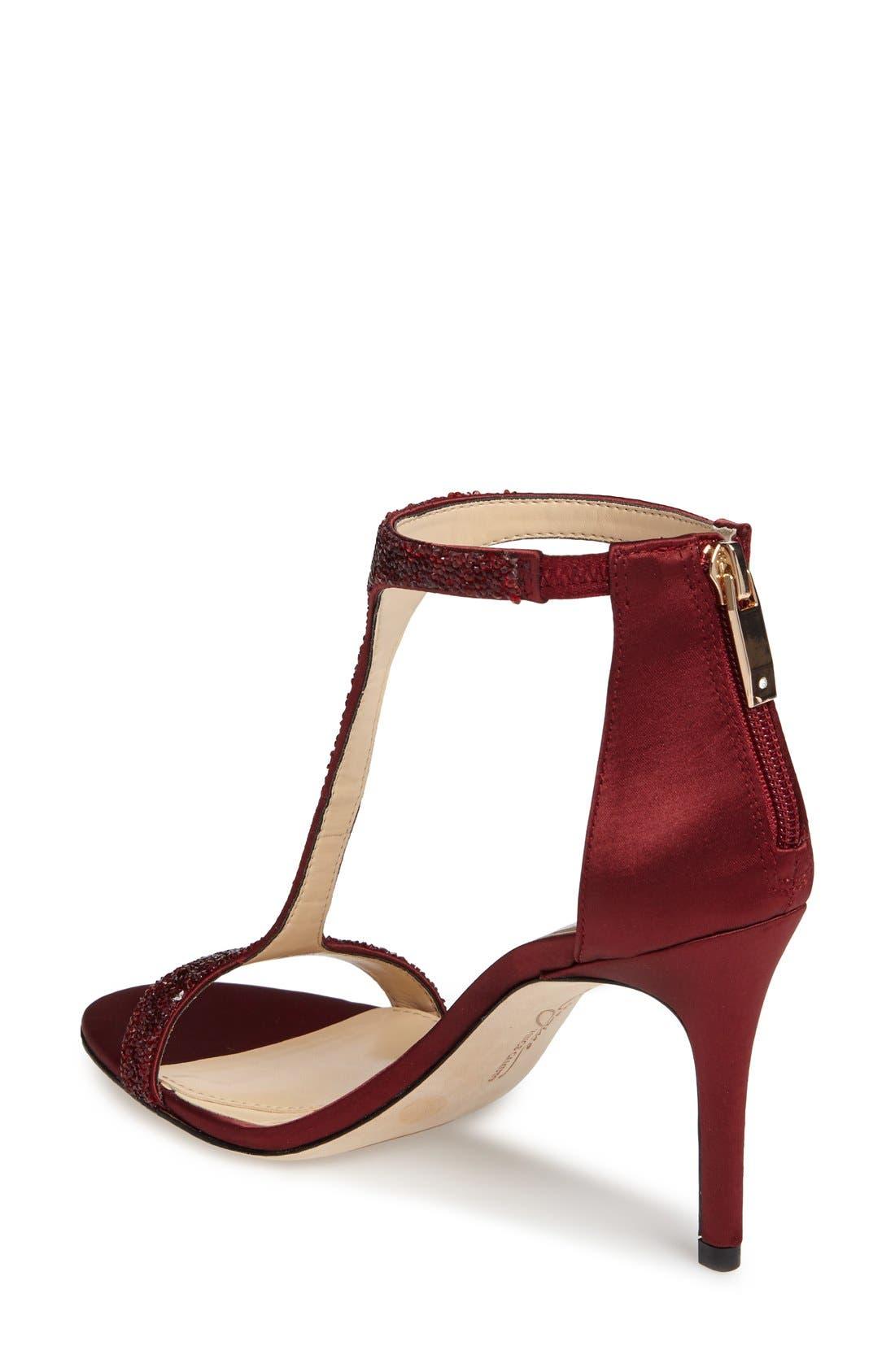 'Phoebe' Embellished T-Strap Sandal,                             Alternate thumbnail 80, color,