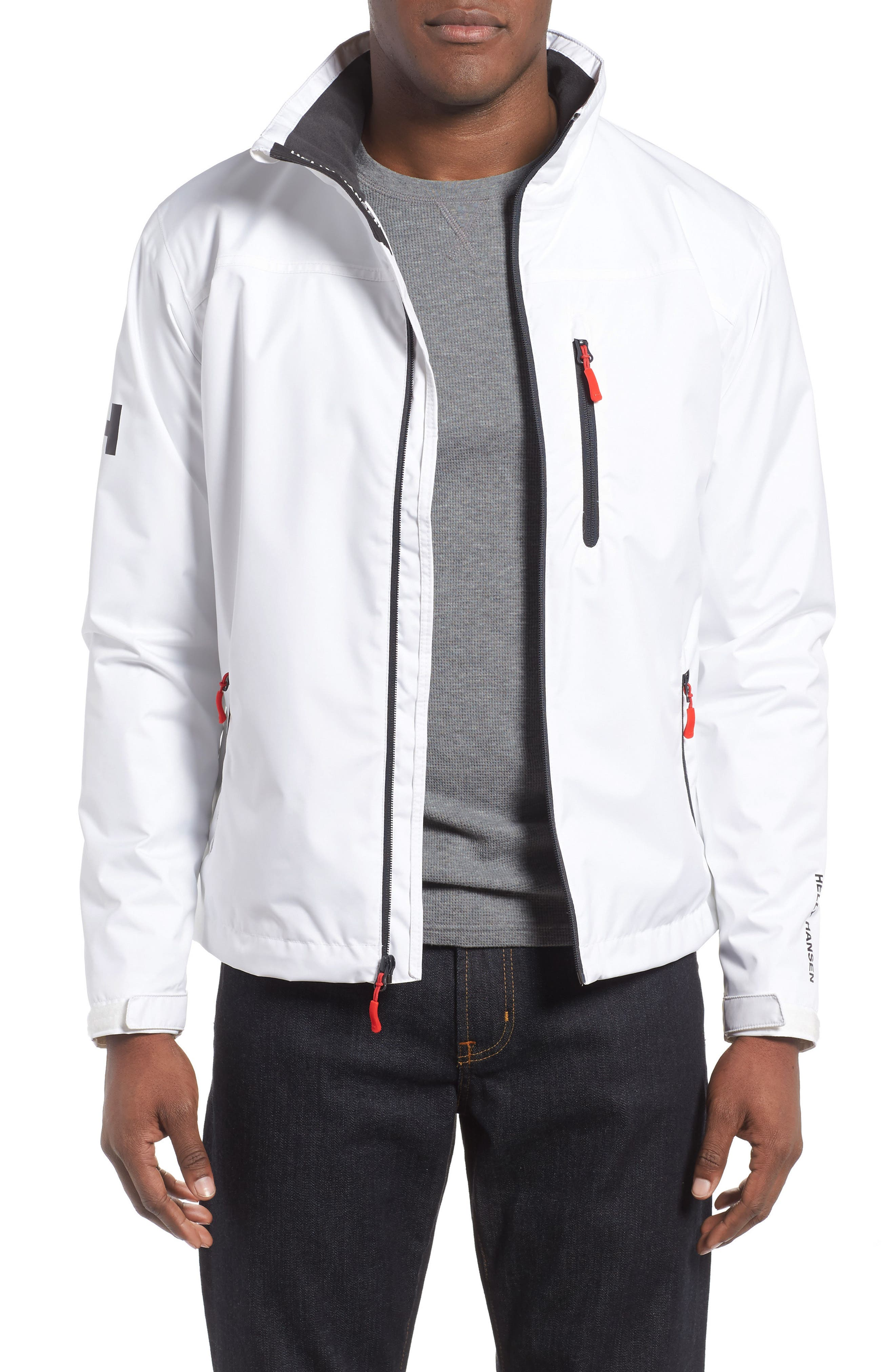 'Crew' Waterproof & Windproof Jacket,                             Main thumbnail 1, color,                             BRIGHT WHITE