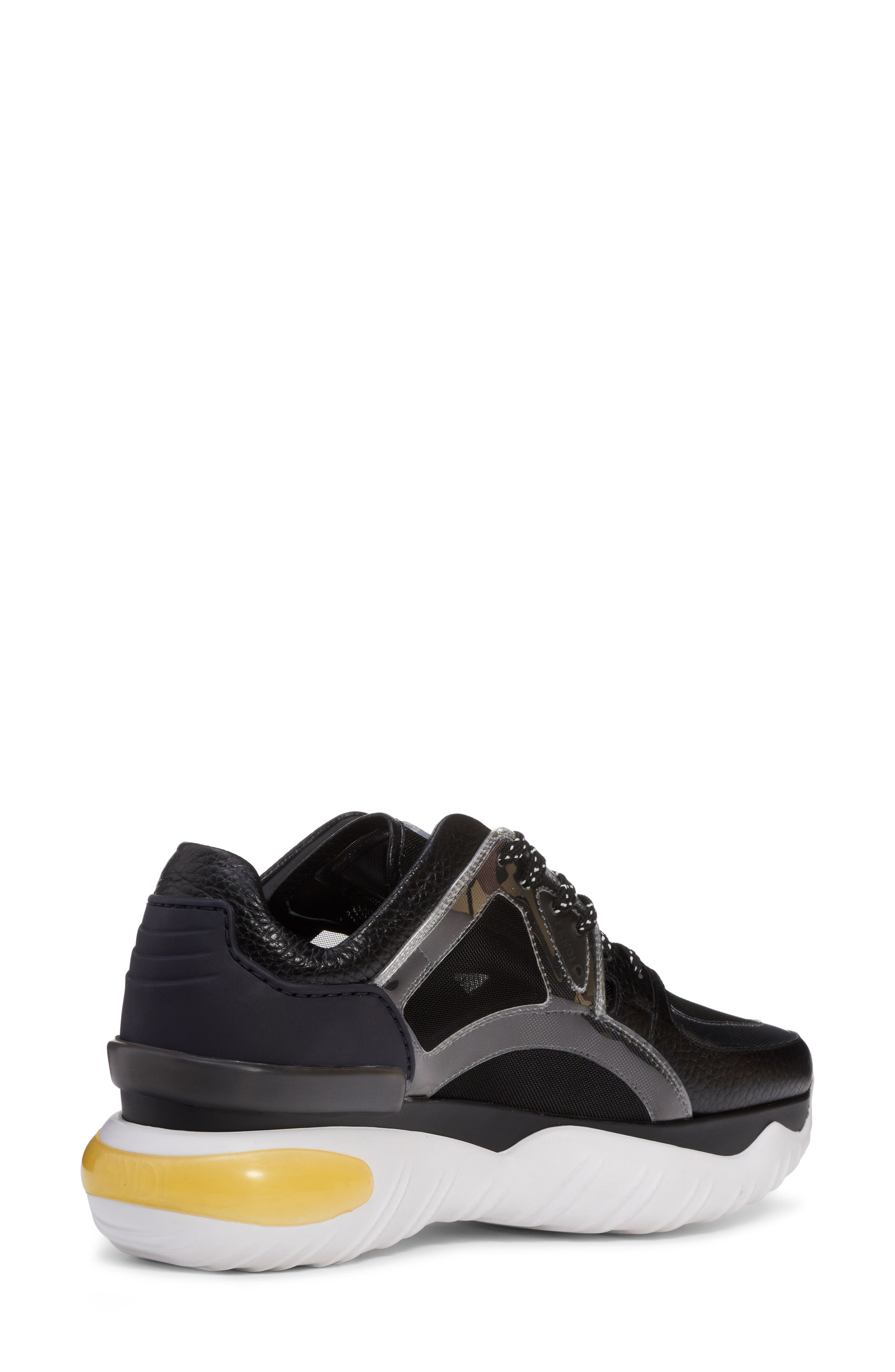 Fancy Lace-Up Sneaker,                             Alternate thumbnail 2, color,                             BLACK